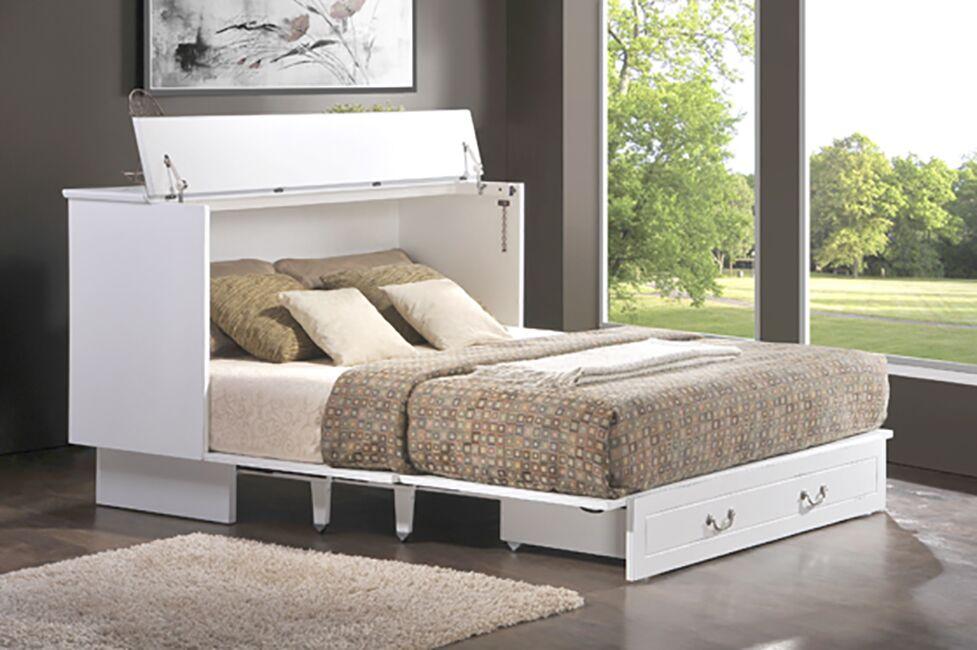 Catherine Queen Storage Murphy Bed with Mattress