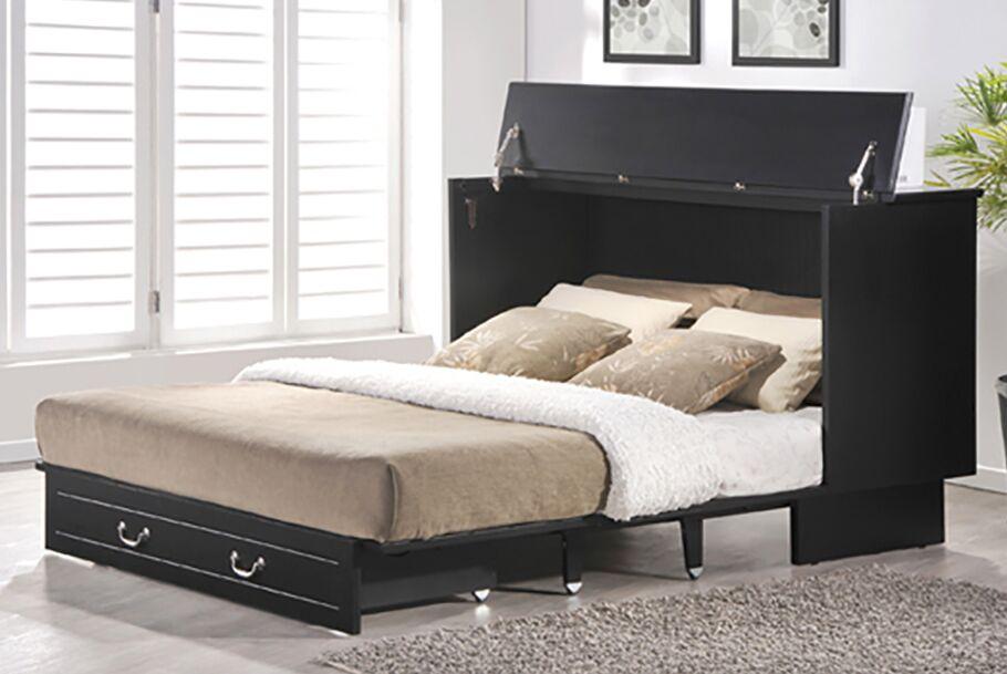 Cottage Queen Storage Murphy Bed with Mattress