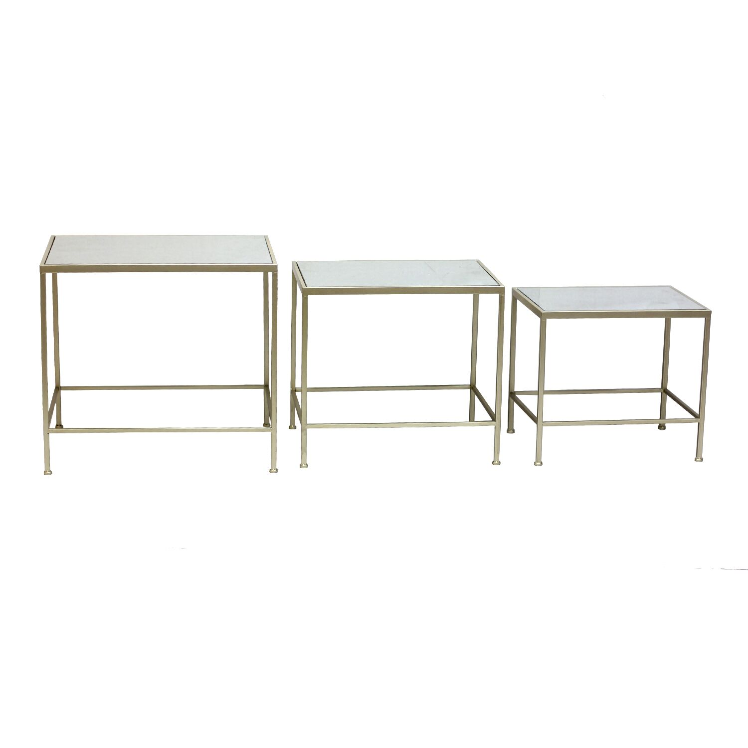 Witherspoon 3 Piece Nesting Tables Table Base Color: Champagne