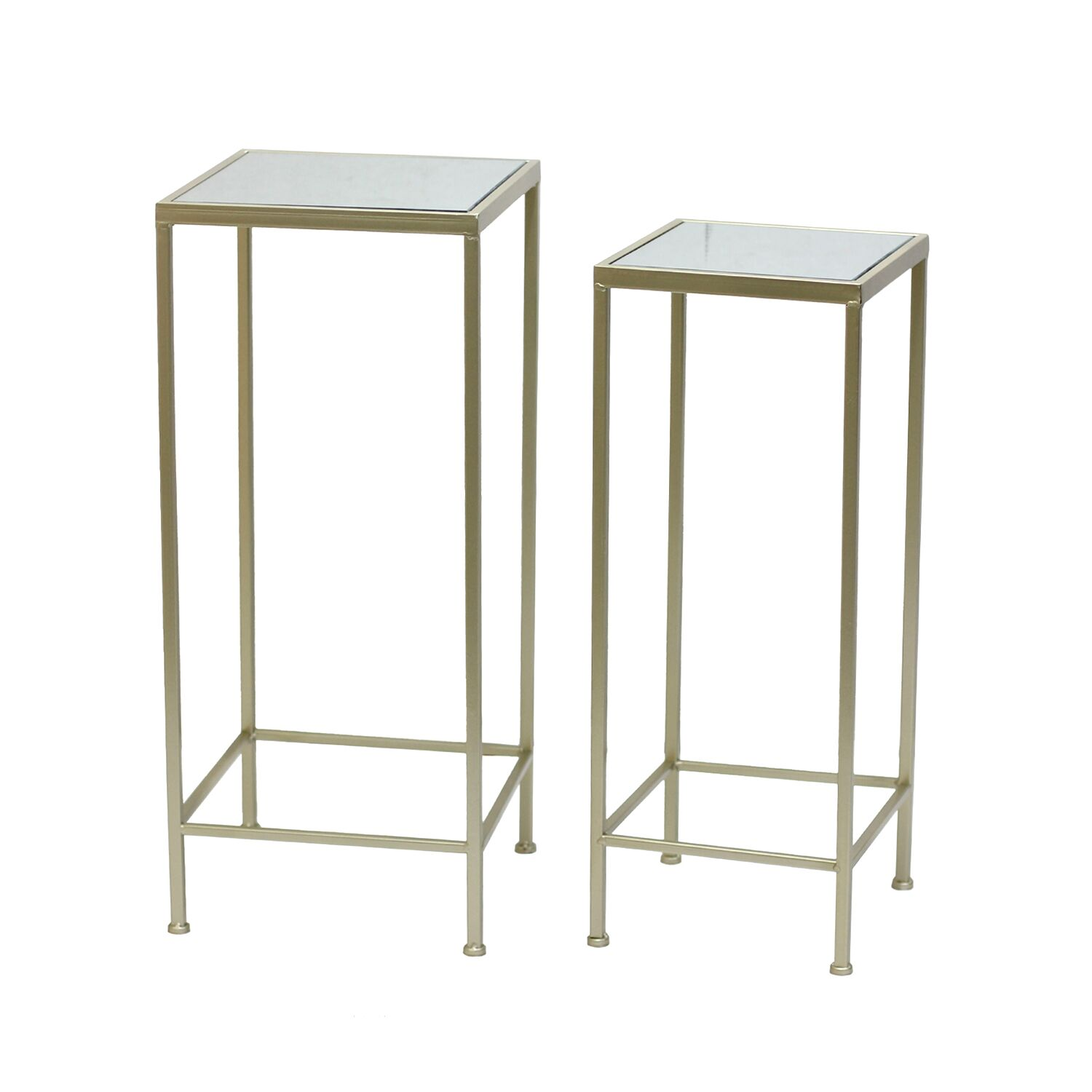 Witherspoon 2 Piece Nesting Tables Table Base Color: Champagne