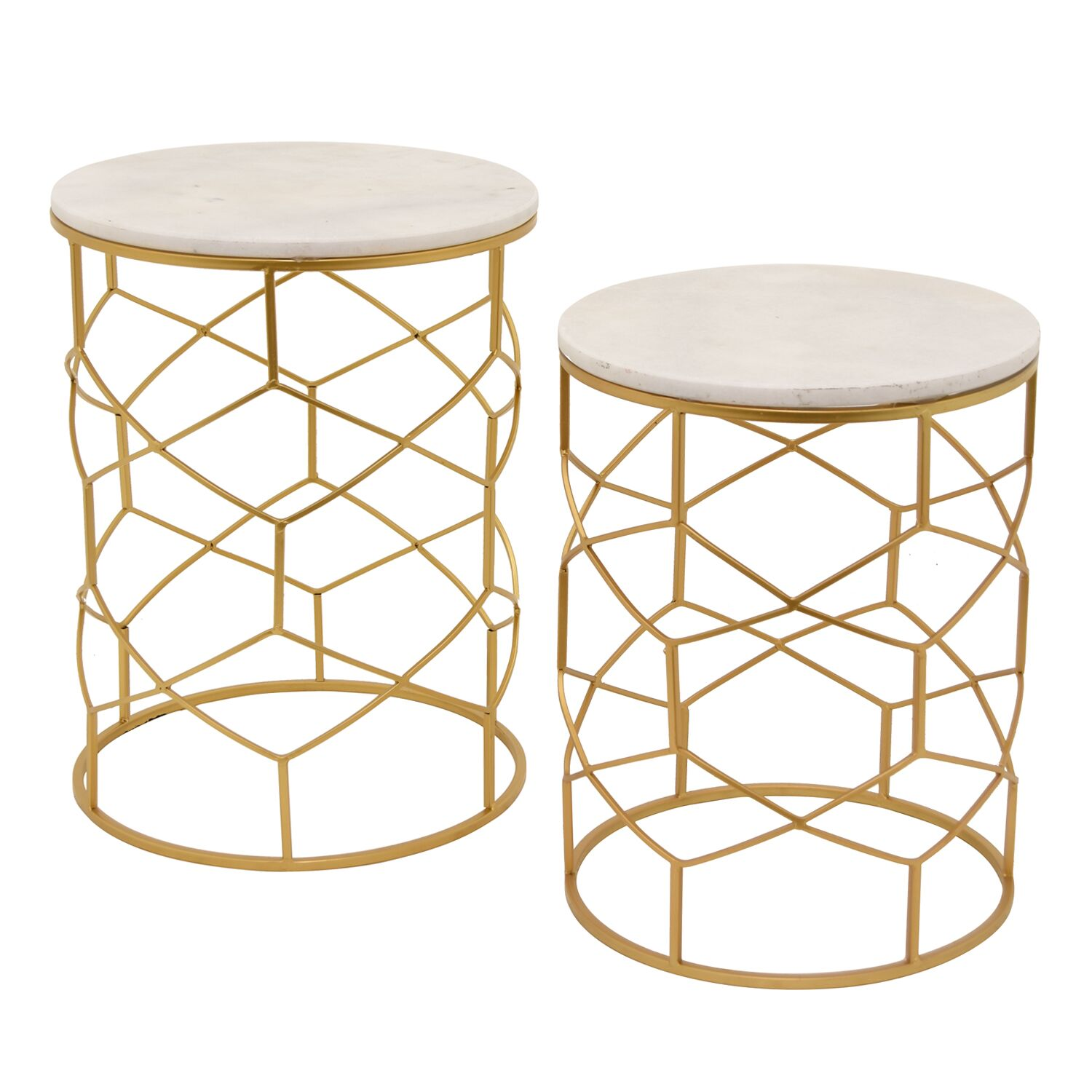 Marble 2 Piece Nesting Tables