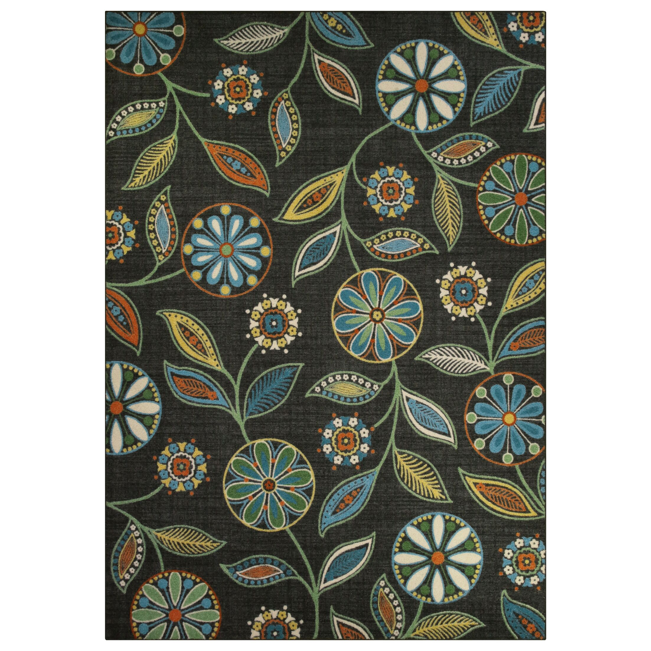 Adderley Radiant Gray/Stone Green Area rug Rug Size: 7' x 10'