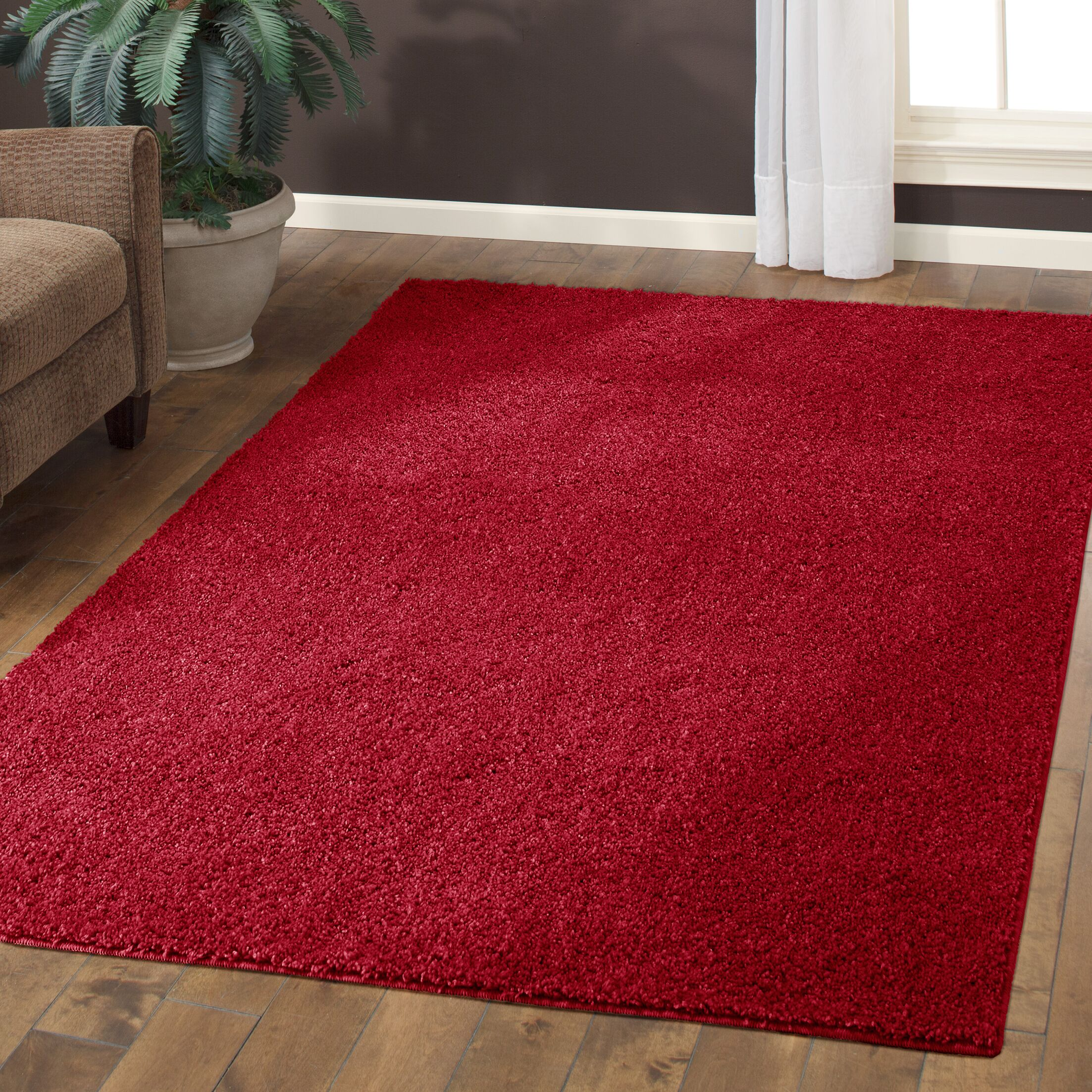 Aviles Autumn Red Area Rug Rug Size: 7' x 10'
