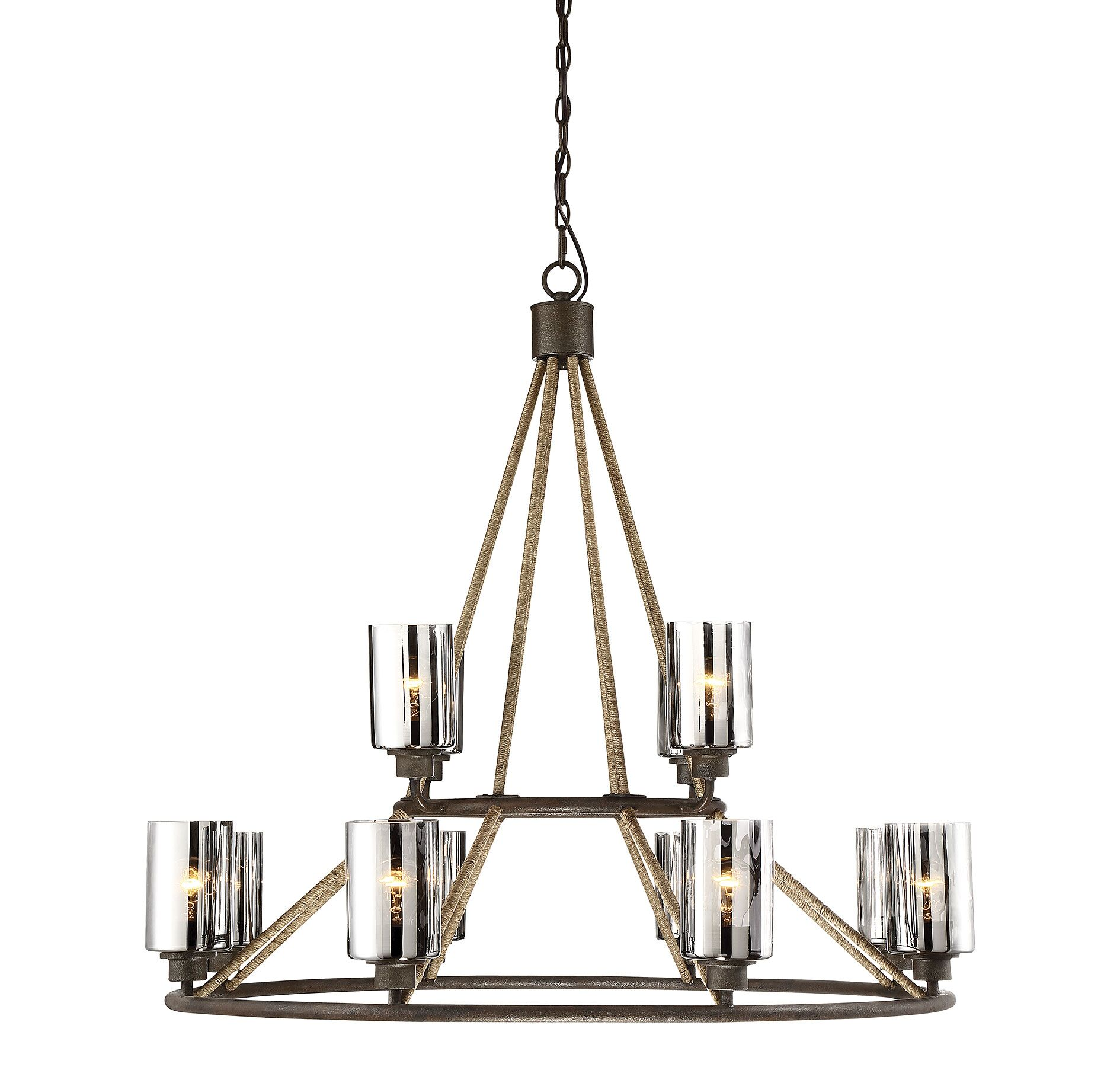 Adley 12-Light Shaded Chandelier