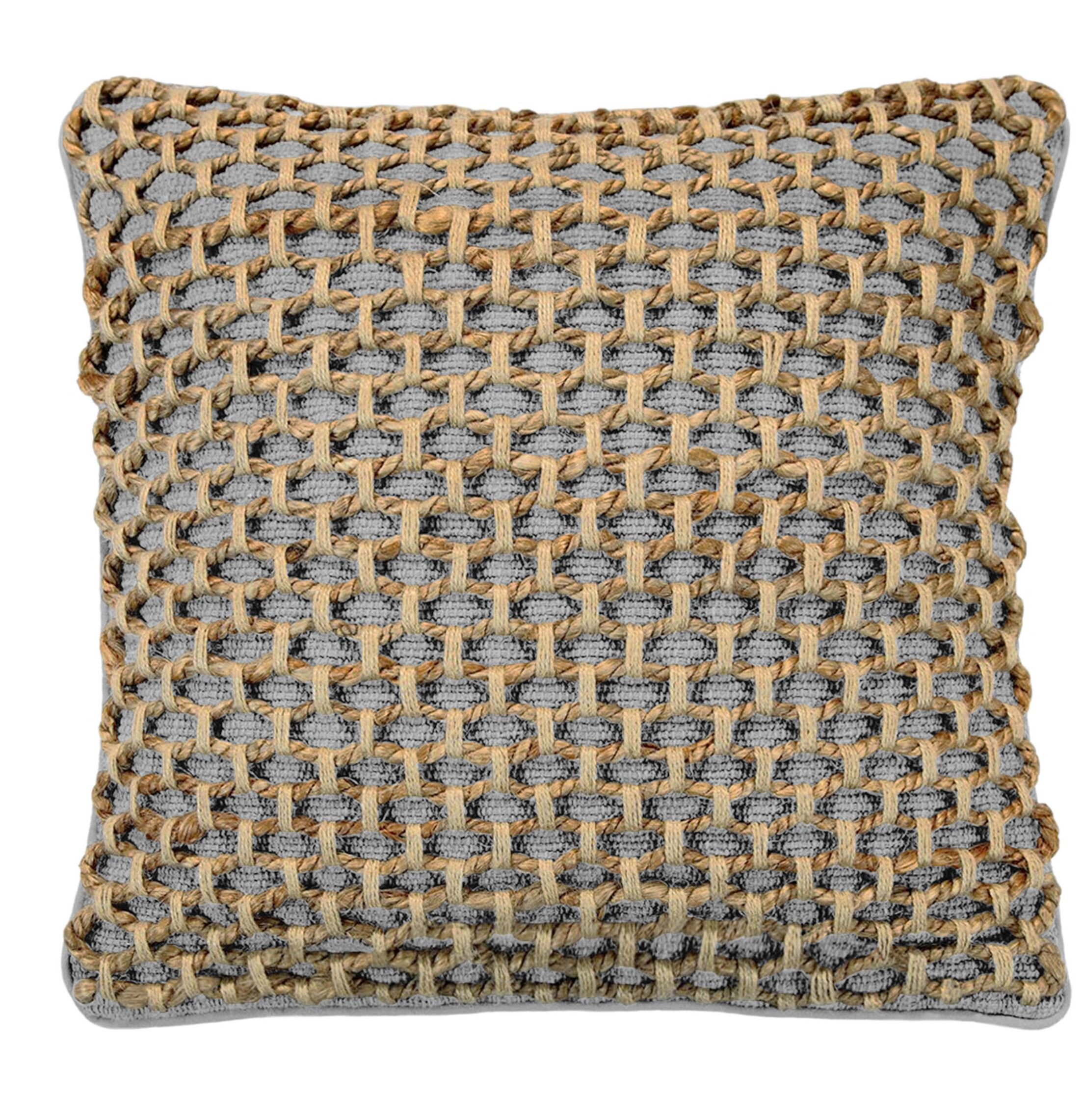 Brooks Throw Pillow Color: Gray