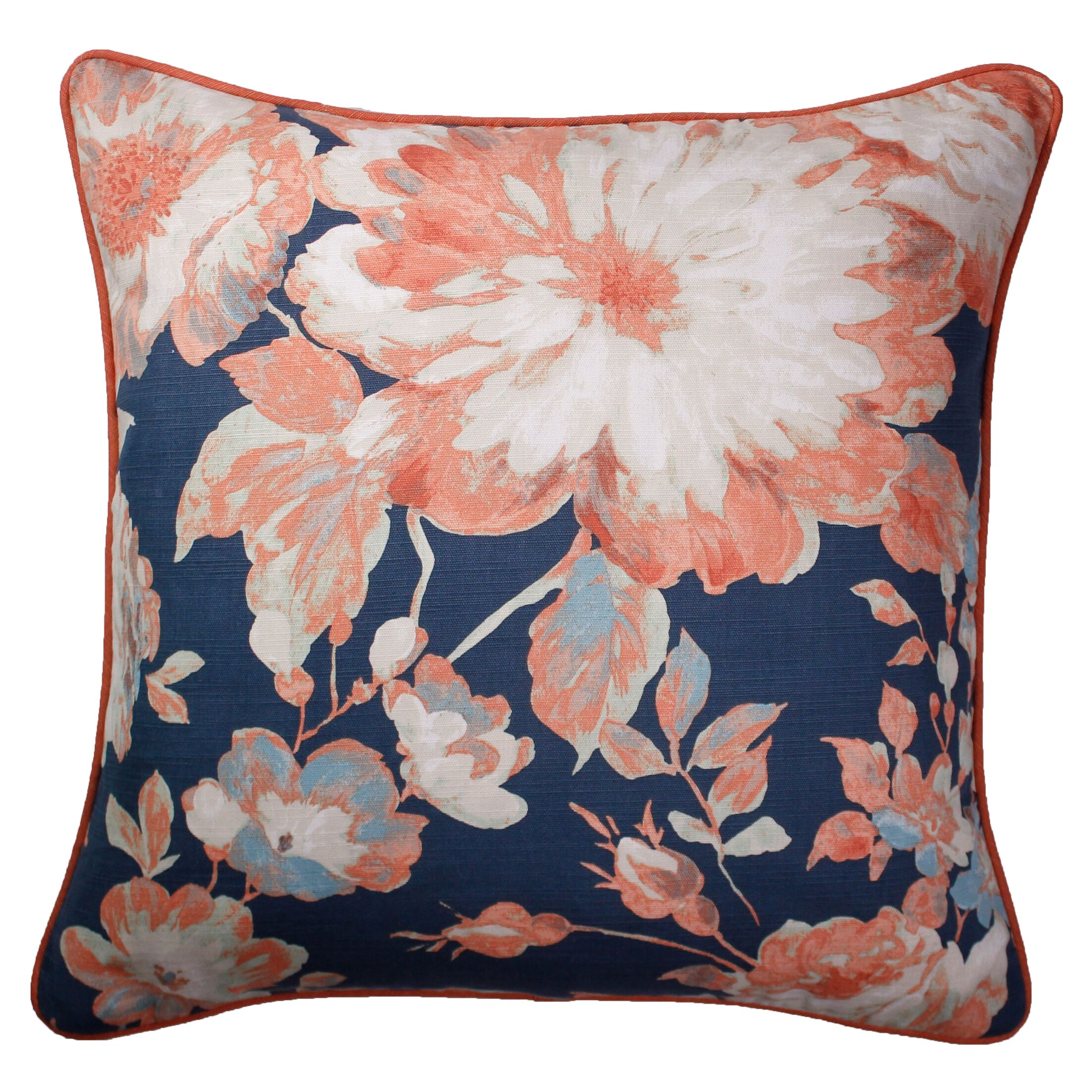 Pinedo Printed 100% Cotton Throw Pillow Color: Coral