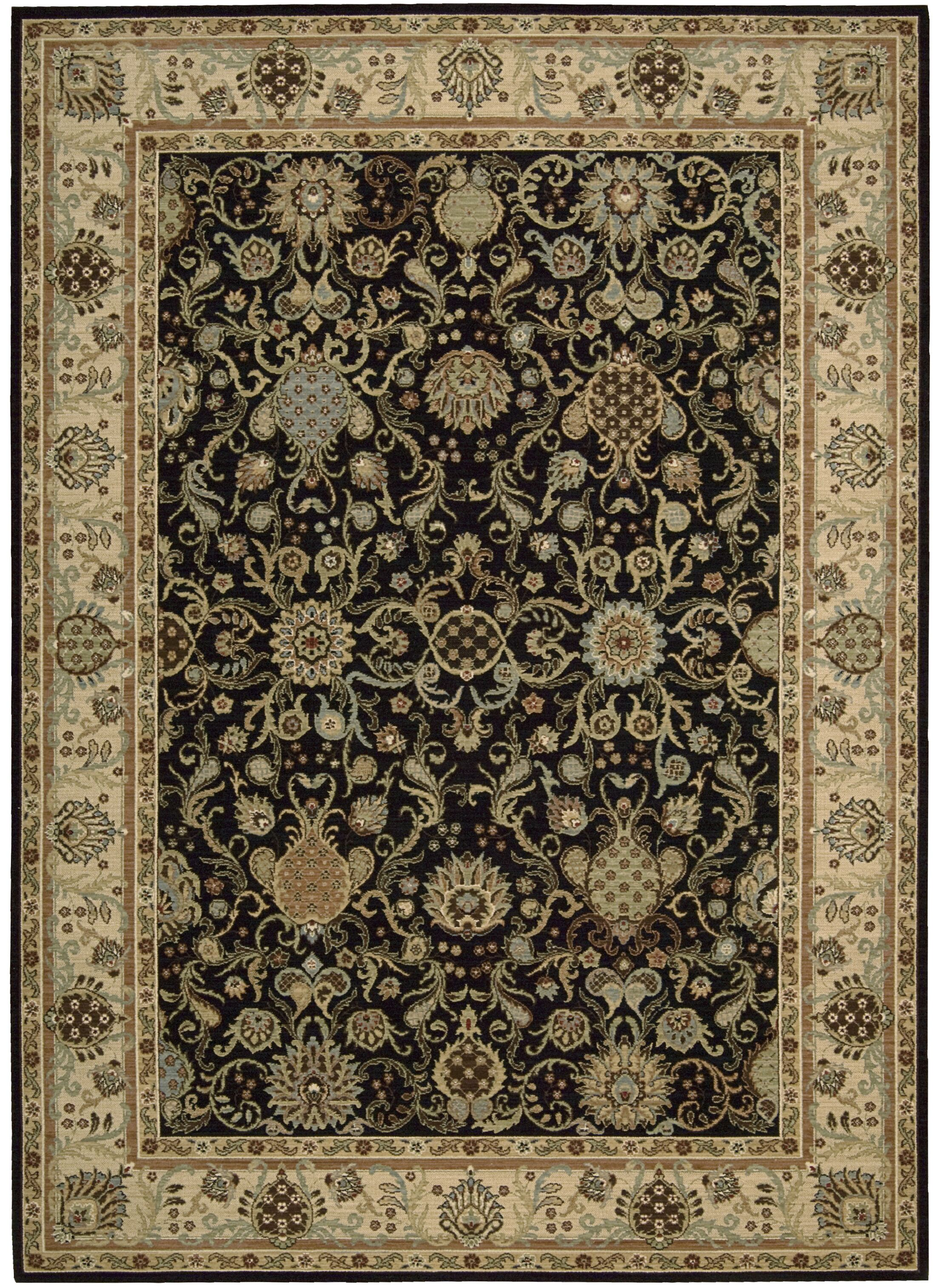 Lumiere Stateroom Onyx Area Rug Rug Size: Rectangle 9'6