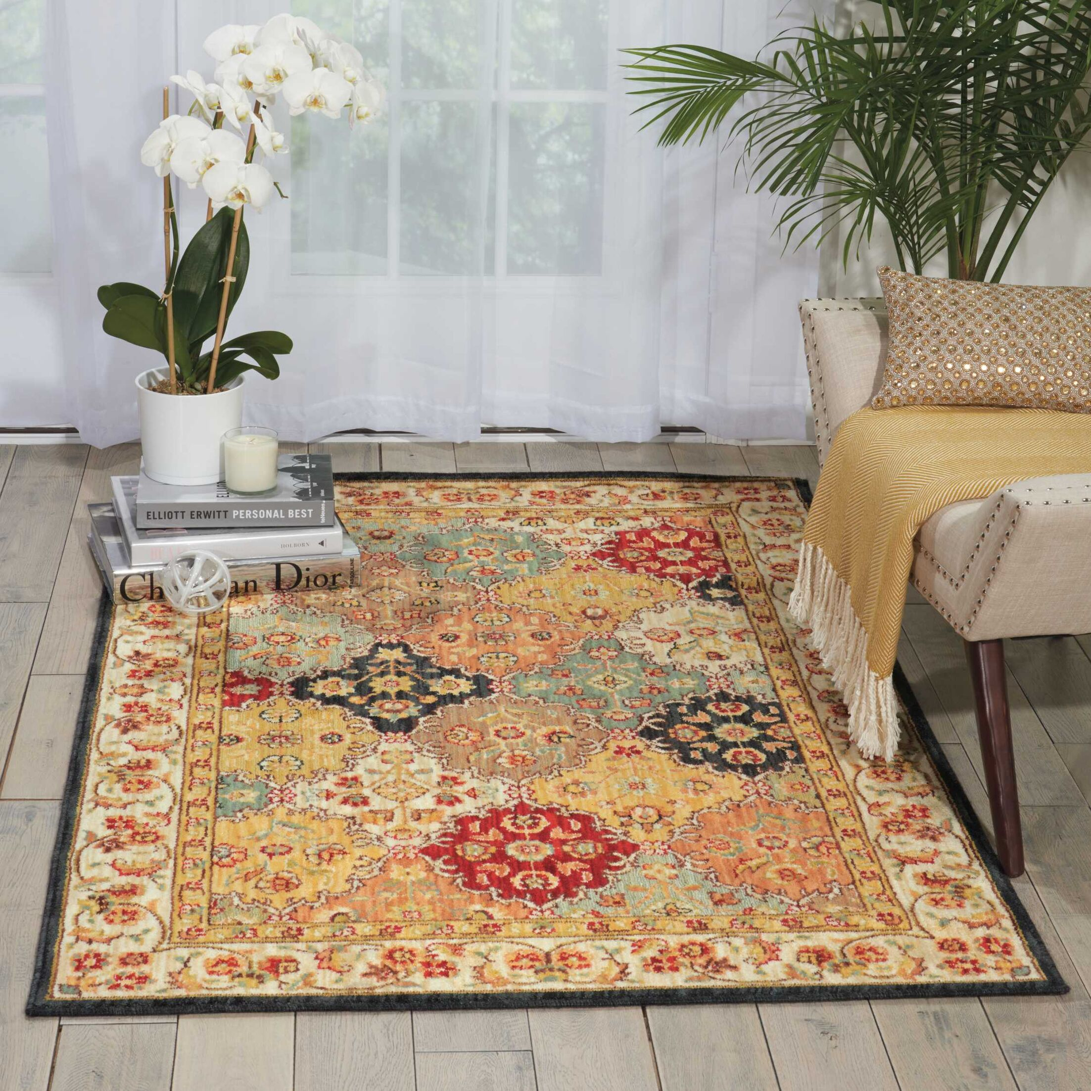 Ancient Times Gold/Taupe Area Rug Rug Size: Rectangle 3'9
