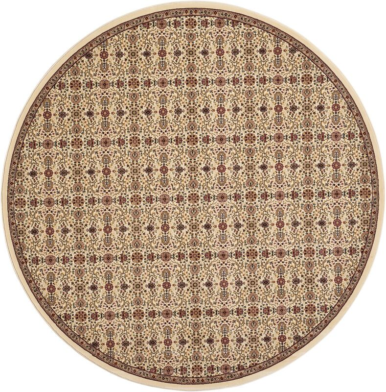 Antiquities Brown Area Rug Rug Size: Round 5'3