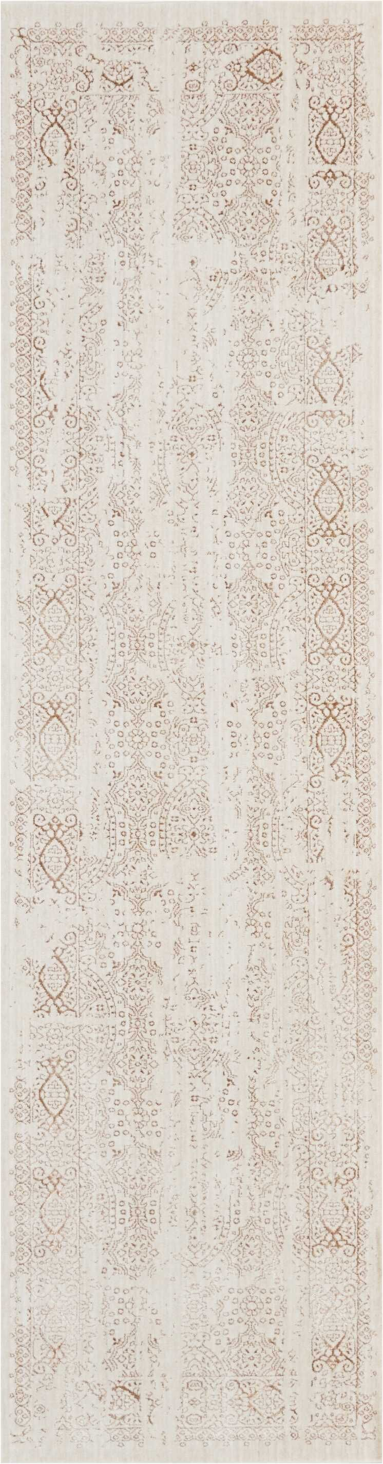 Silver Screen Ivory/Mocha Area Rug Rug Size: Rectangle 9'10
