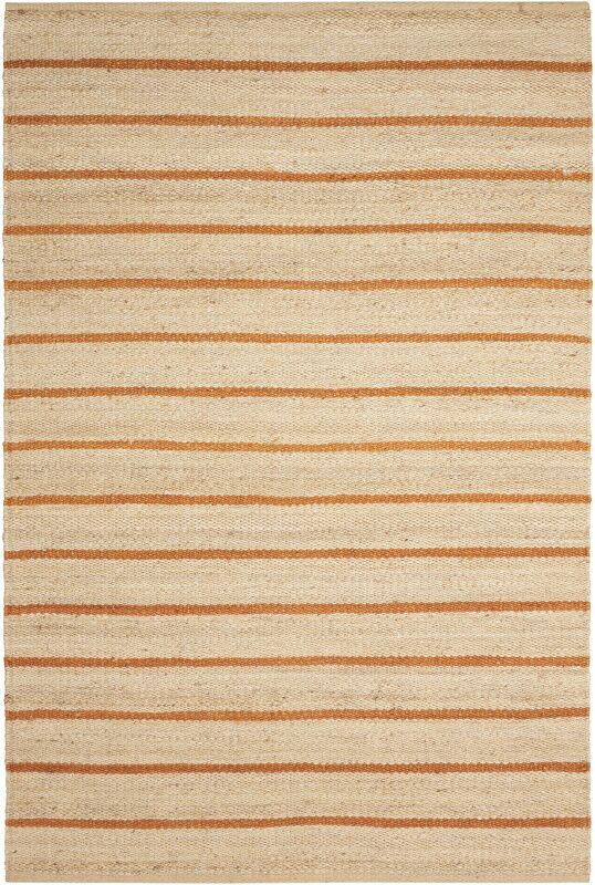 Laflin Hand-Woven Ochre/Wheat Area Rug Rug Size: Rectangle 5' x 7'6