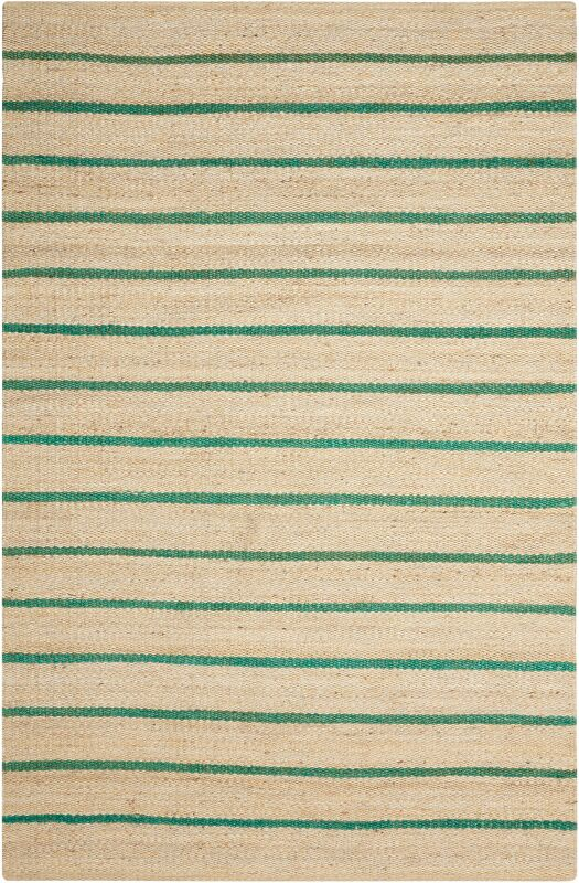 Laflin Hand-Woven Green/Wheat Area Rug Rug Size: Rectangle 8' x 10'