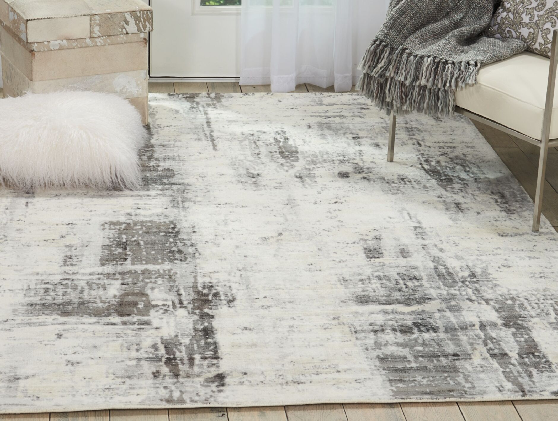 Mcgill Modern Abstract Hand-Woven Ivory/Gray Area Rug Rug Size: Rectangle 8' x 11'