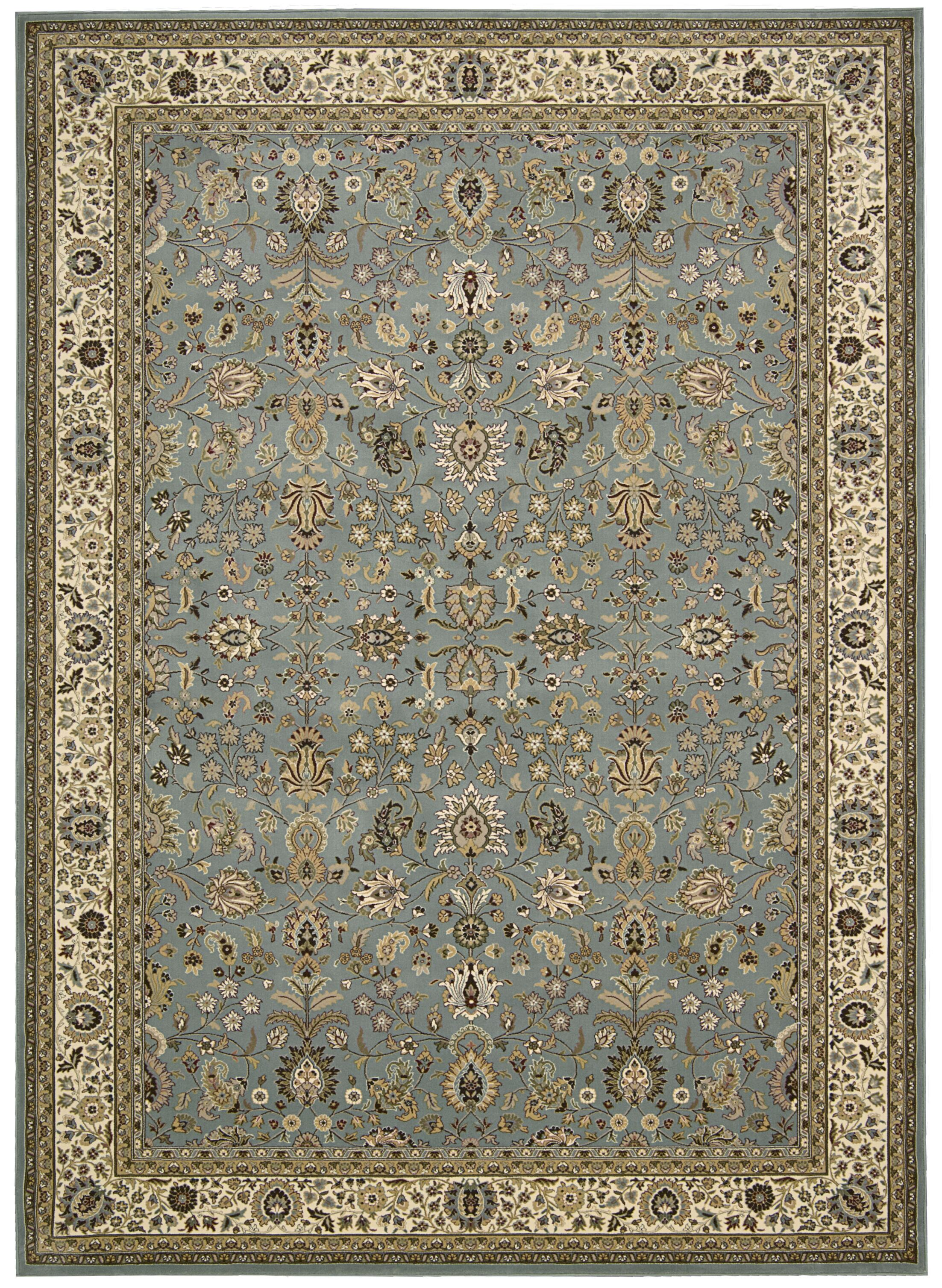 Antiquities Royal Countryside Slate/Blue Area Rug Rug Size: Rectangle 5'3
