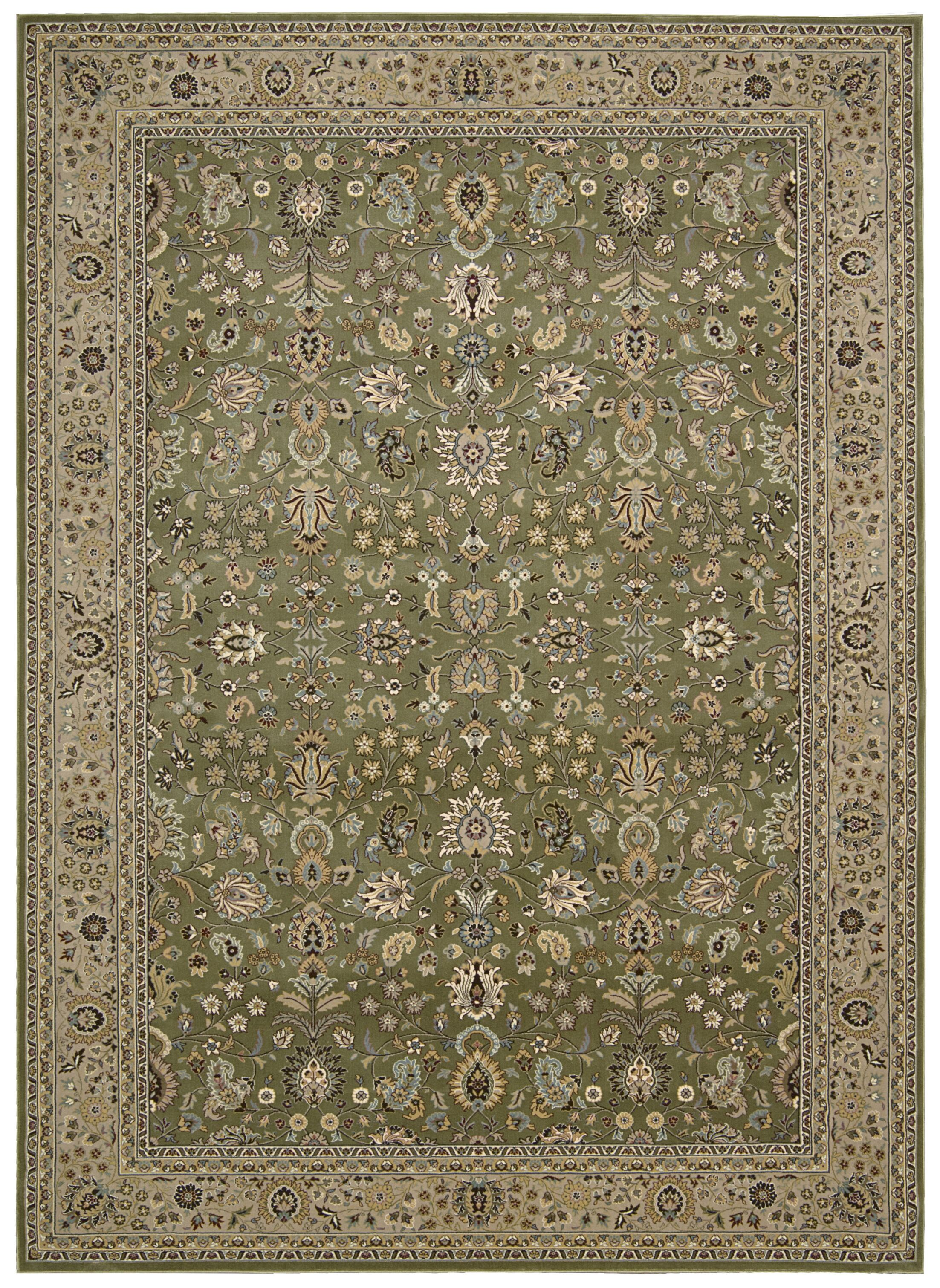 Antiquities Royal Countryside Sage Area Rug Rug Size: Rectangle 5'3