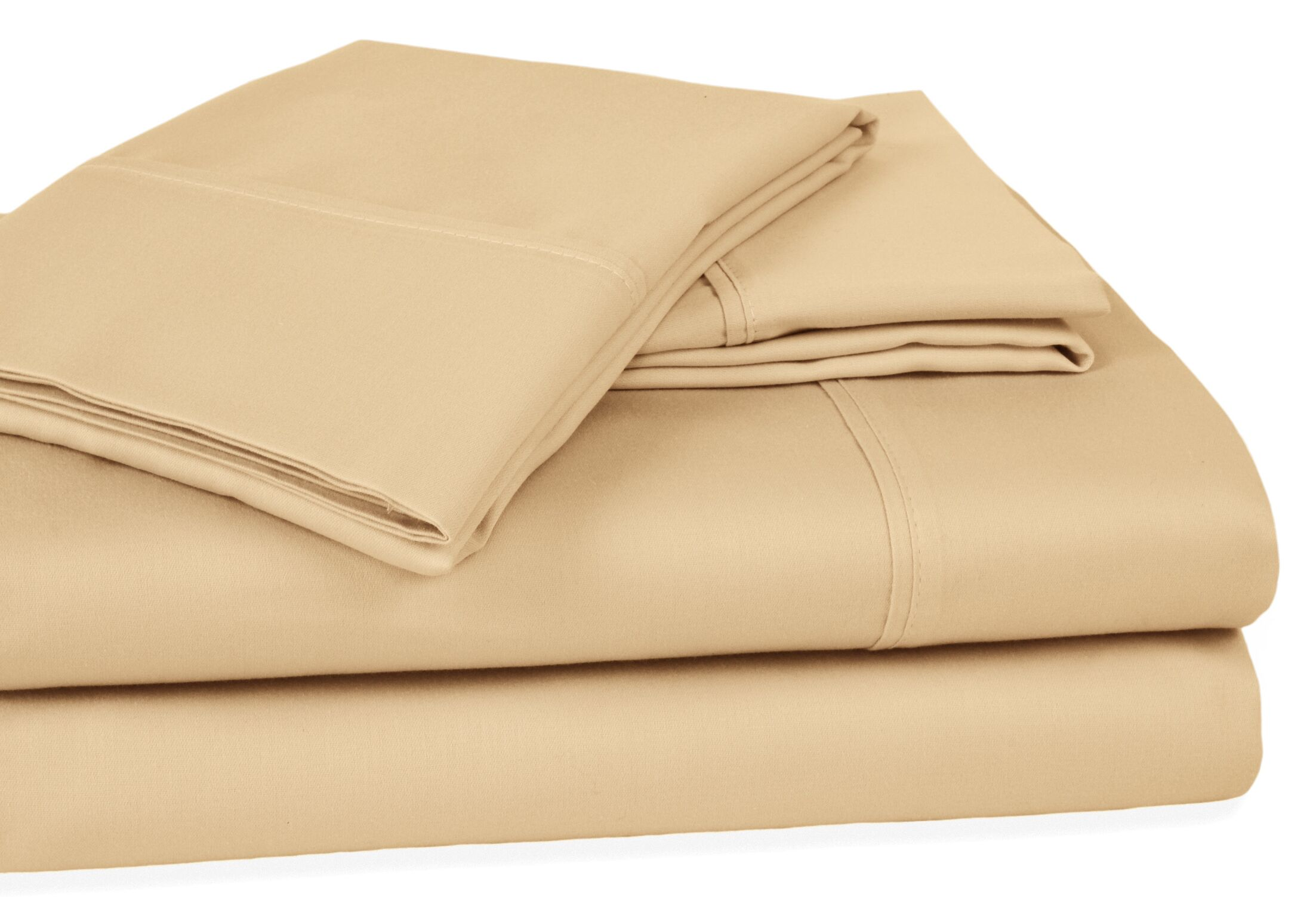 Whalers Ultra Soft Hypoallergenic 400 Thread Count 100% Cotton Sheet Set Color: Beige, Size: Queen