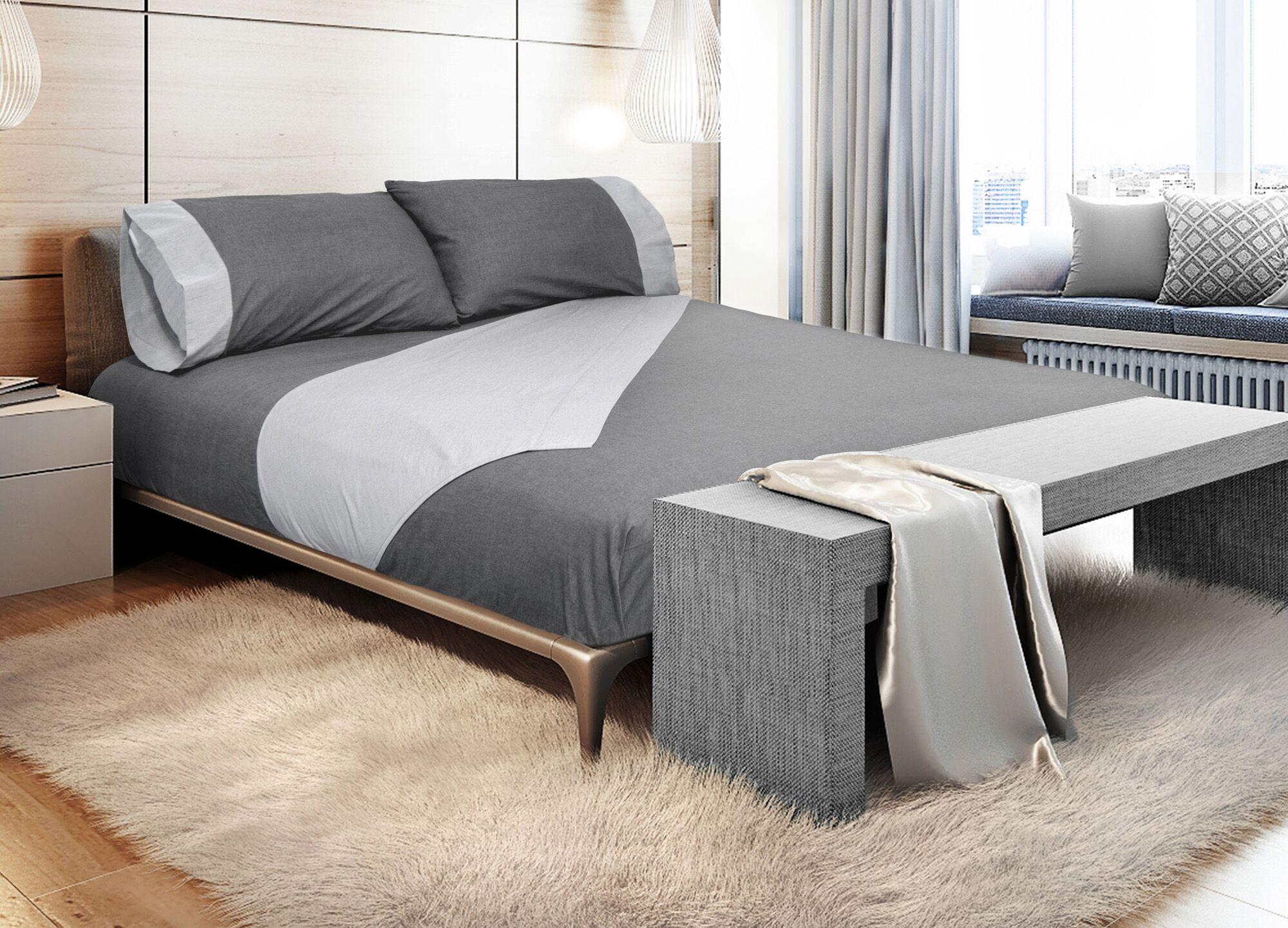 Binder 300 Thread Count 100% Cotton Sheet Set Color: Dark Gray, Size: Queen