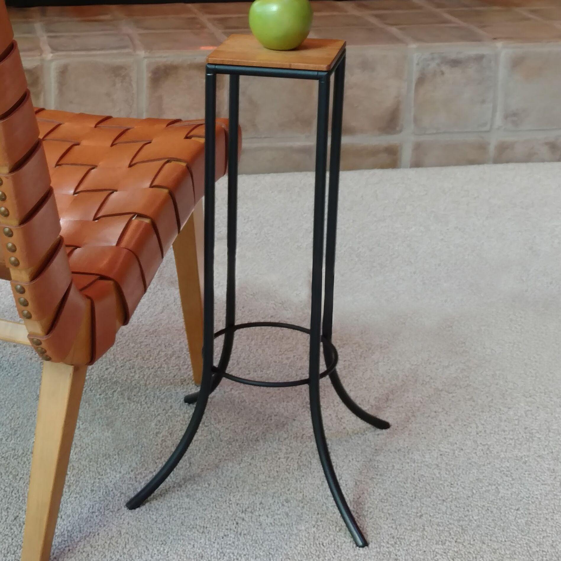 Mya� Personal J Series End Table Top Color: Walnut, Base Color: Black
