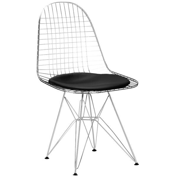 Eiffel Side Chair Upholstery: Black