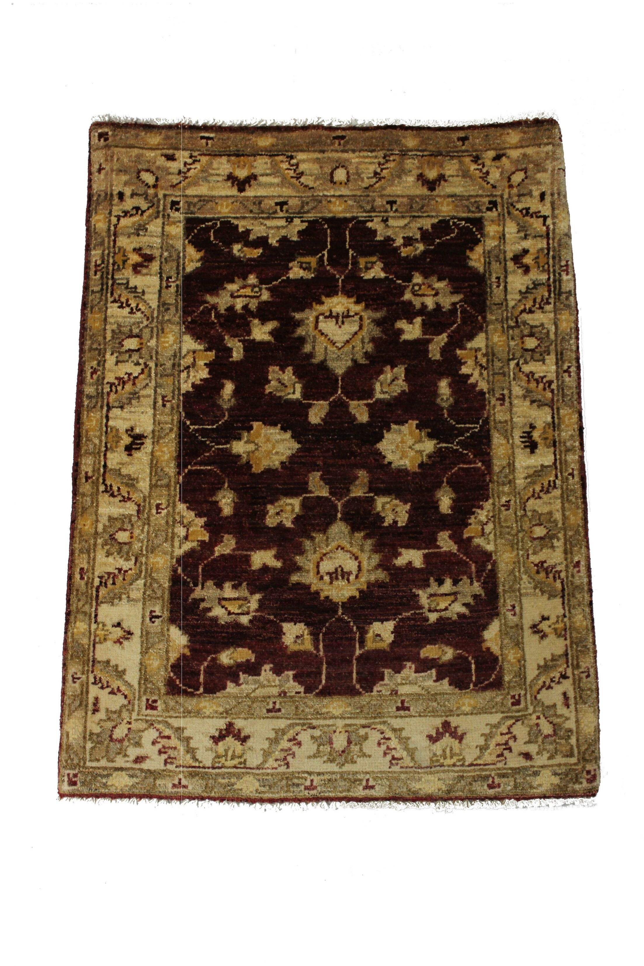Rolland Hand Woven Red/Brown Wool Area Rug