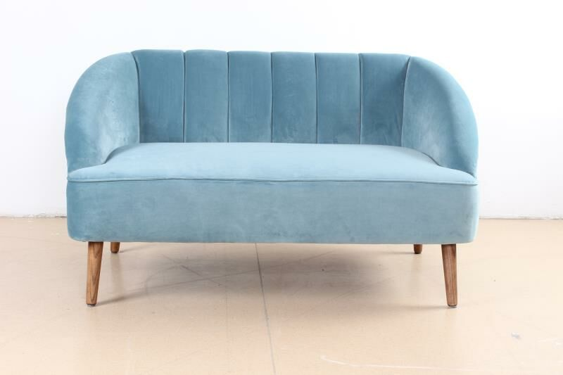 Mcclanahan 2 Seater Sofa Upholstery: Light Blue