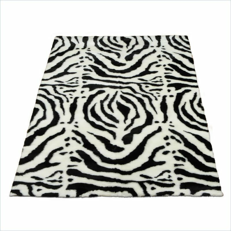 Animal Zebra White/Black Spine Area Rug Rug Size: Runner 2'3