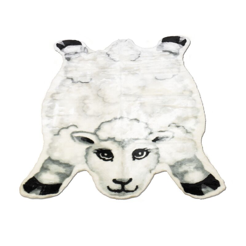 Sheep Kids Rug Rug Size: Novelty 4'7