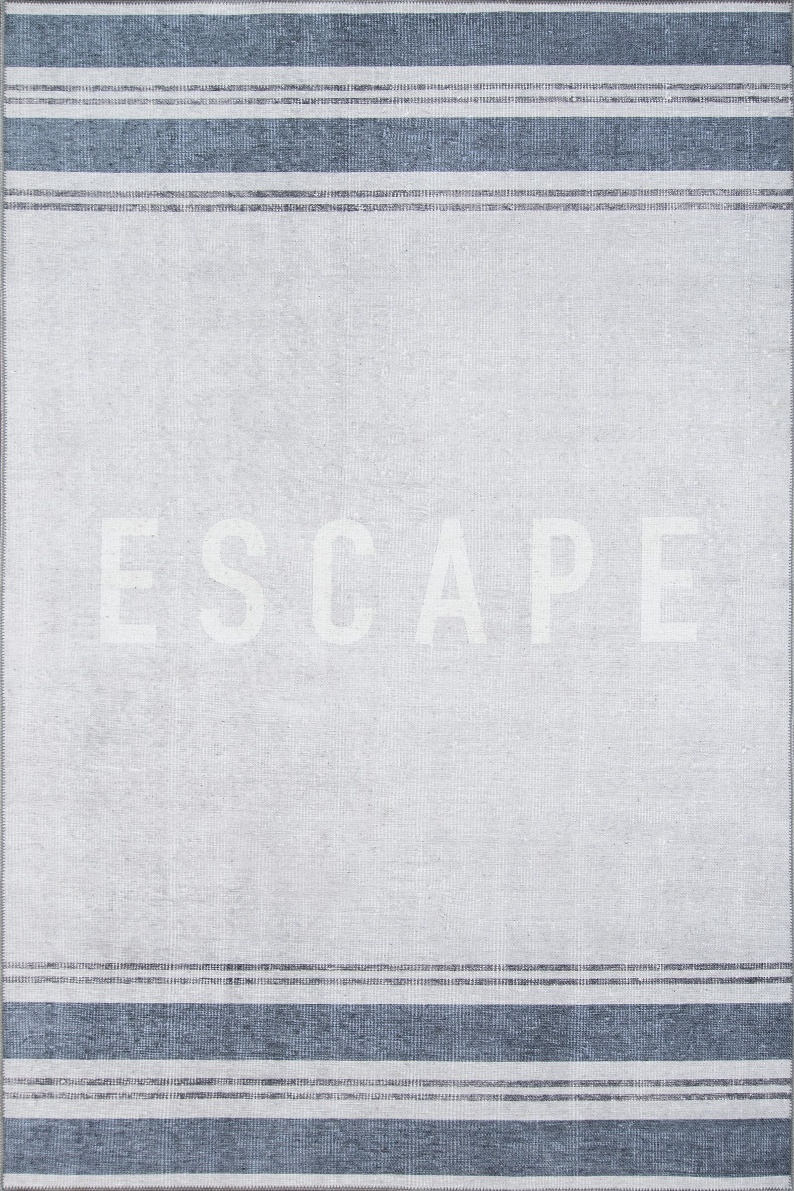 Escape Blue Area Rug Rug Size: Rectangle 7'6