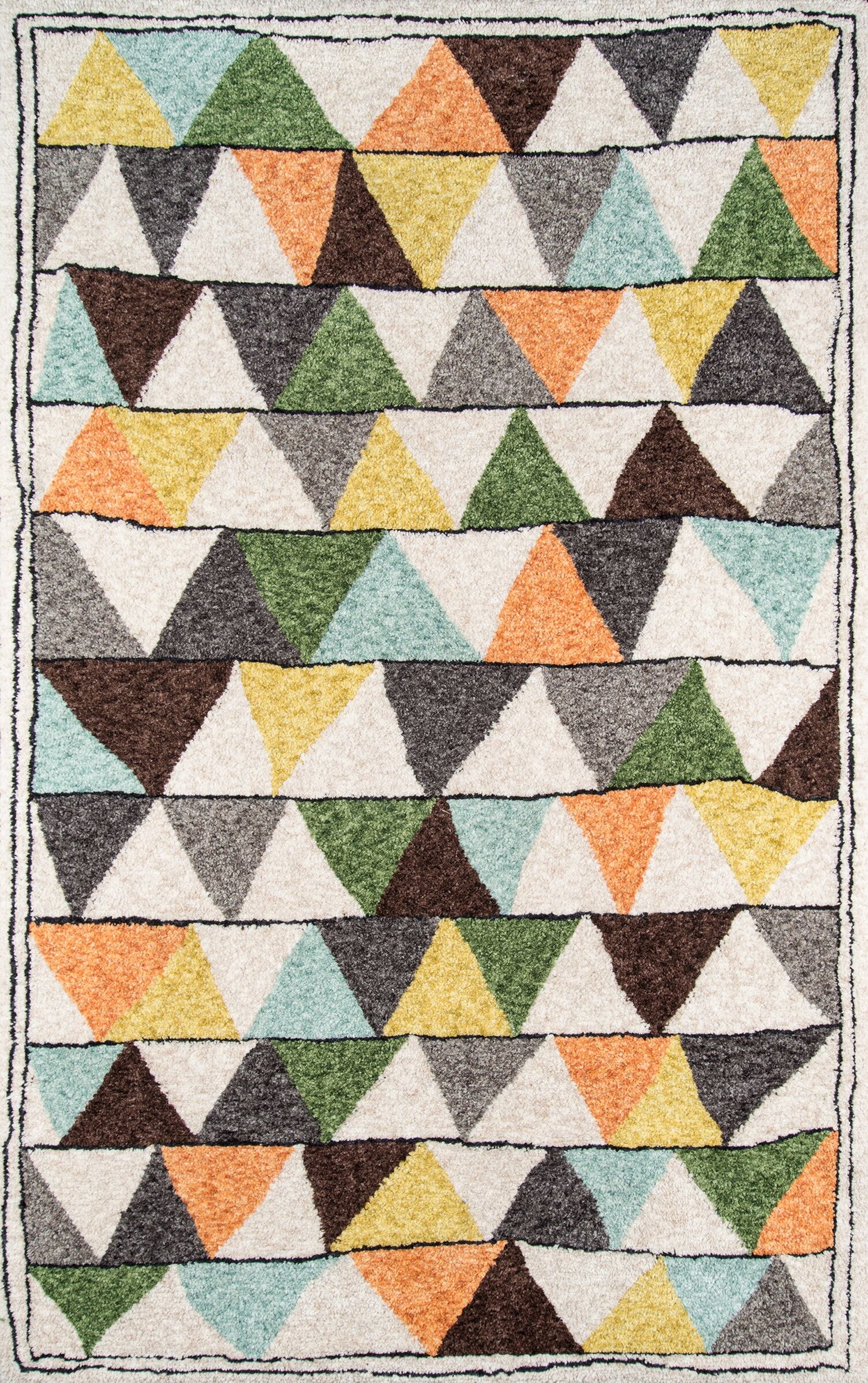 Bungalow Tri Area Rug Rug Size: Runner 2'3