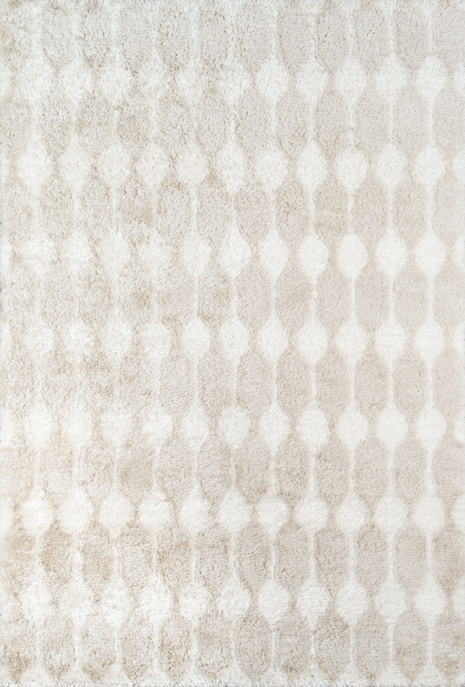 Retro Hand-Tufted Taupe Area Rug Rug Size: Rectangle 7'6