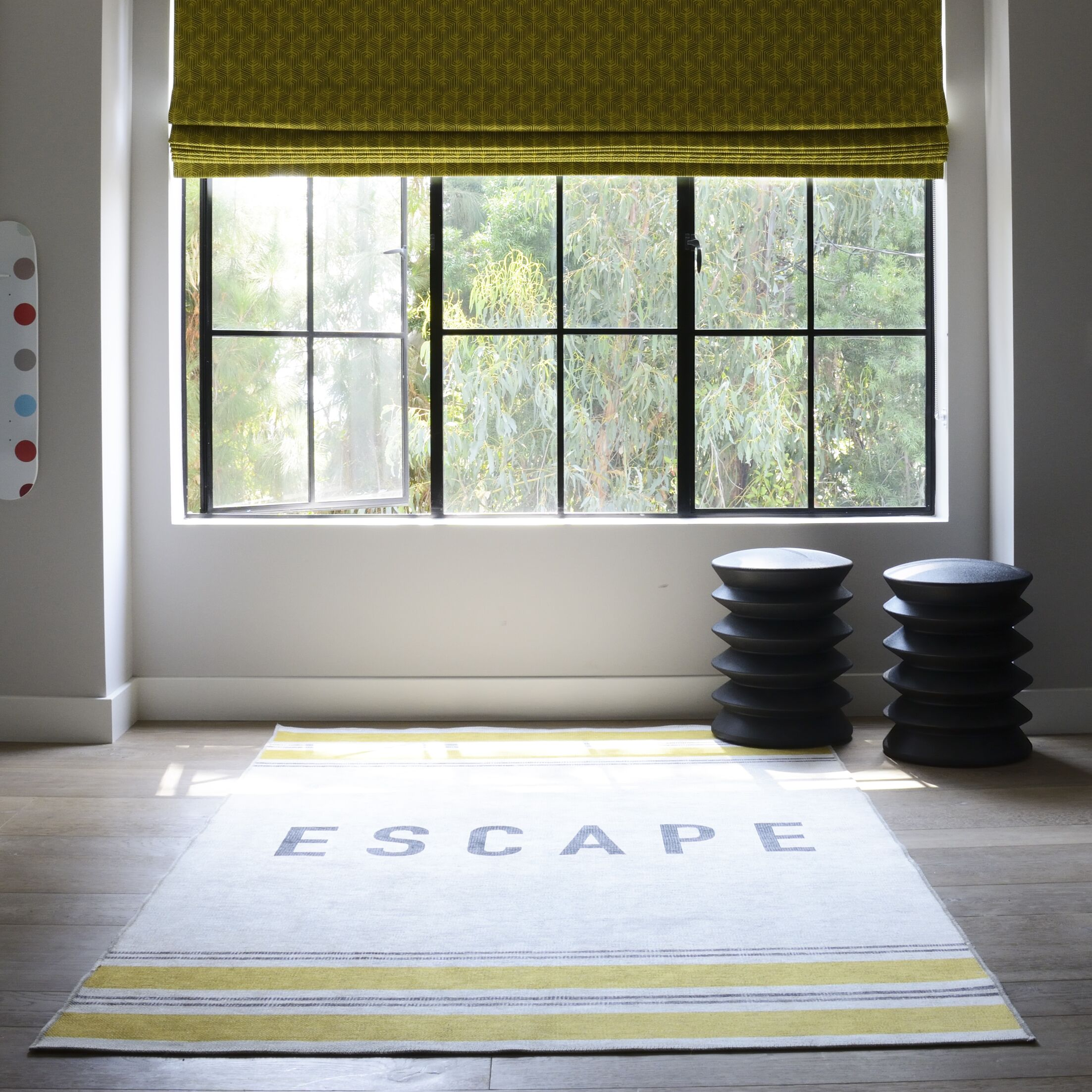 Escape Yellow Area Rug Rug Size: Rectangle 3'3