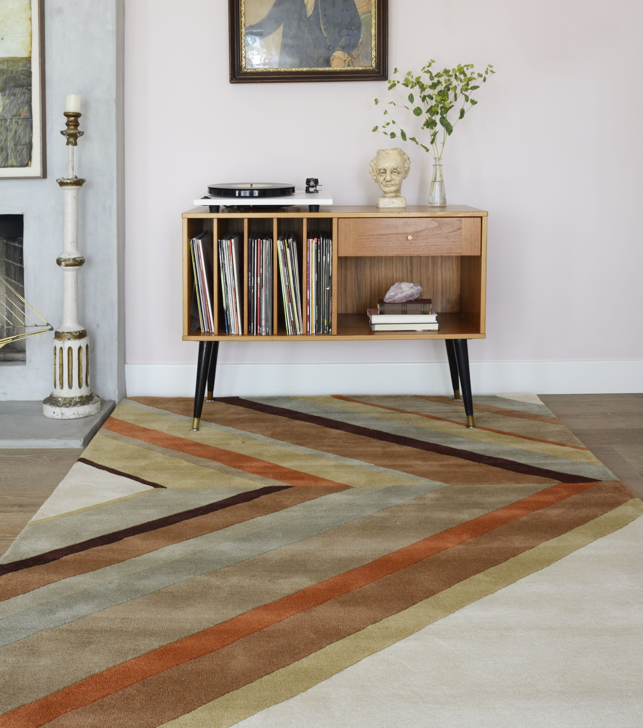 Ultralight Hand-Tufted Brown Area Rug Rug Size: Rectangle 3'6