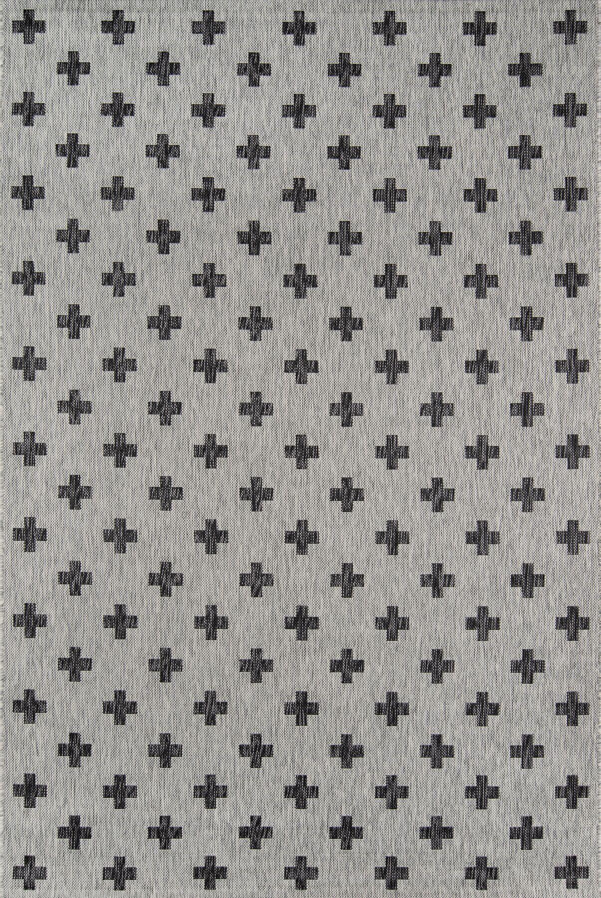 Umbria Gray Indoor/Outdoor Area Rug Rug Size: Rectangle 3'11