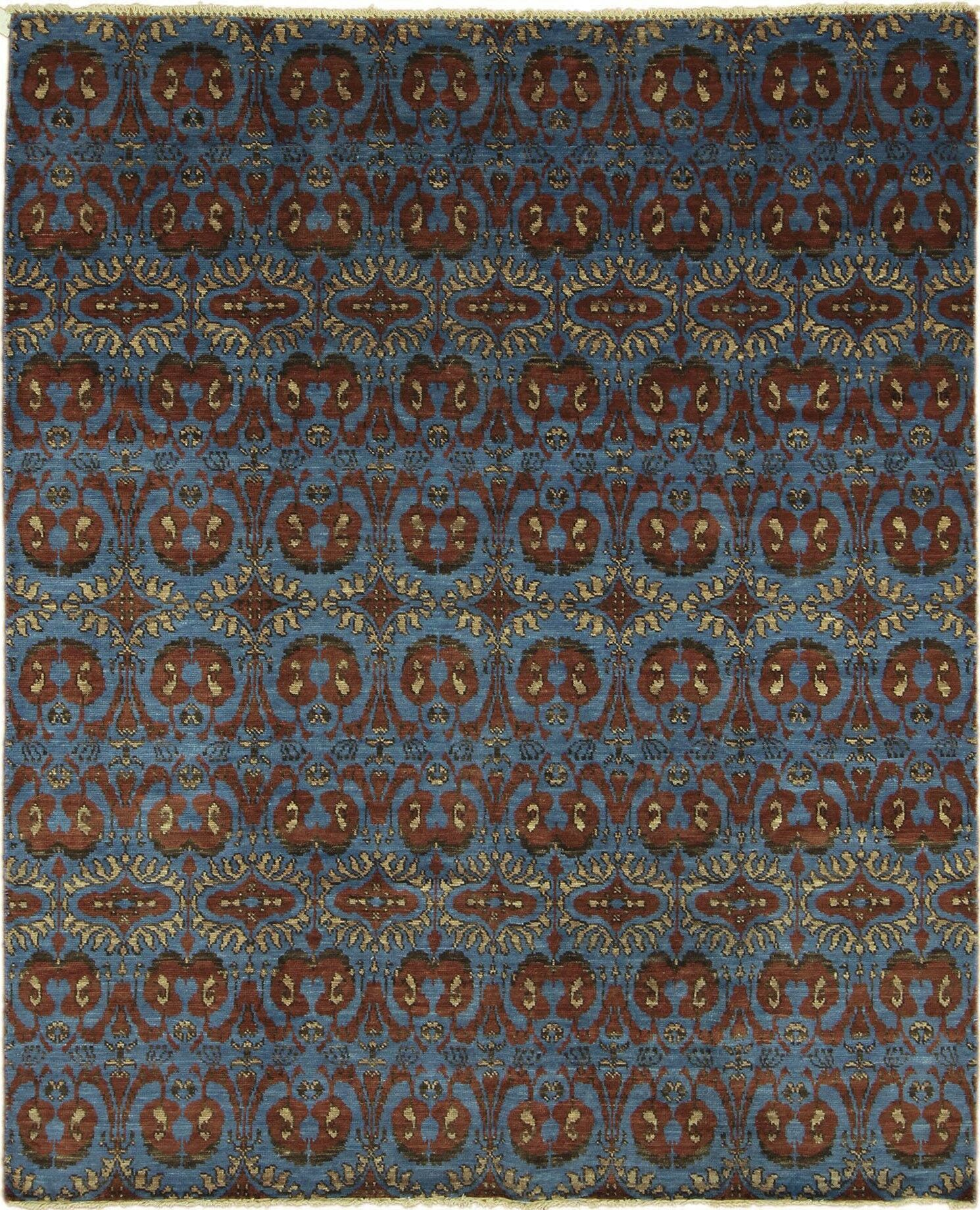 One-of-a-Kind Lona Oriental Hand-Knotted Rectangle Blue Area Rug