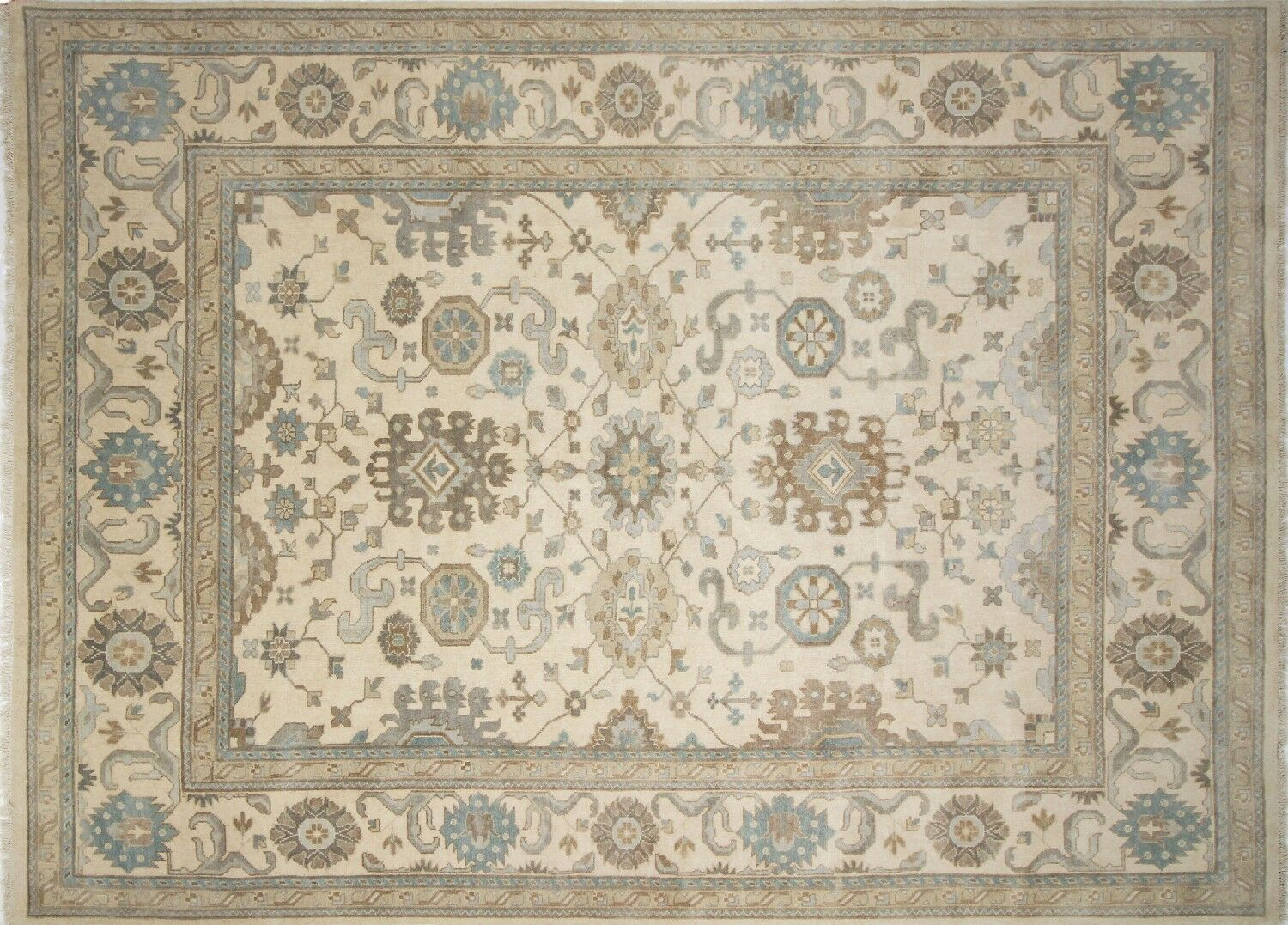One-of-a-Kind Lona Oriental Hand-Knotted Wool Ivory Area Rug
