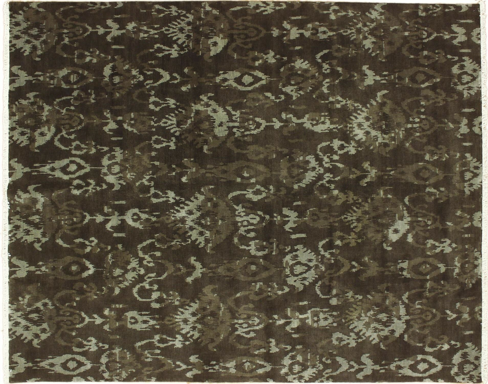 One-of-a-Kind Lona Hand-Knotted Oriental Brown Area Rug