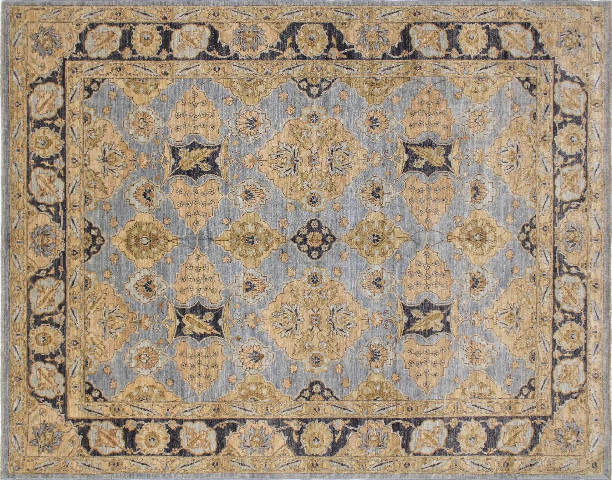 One-of-a-Kind Romona Hand-Knotted Gray Indoor Area Rug