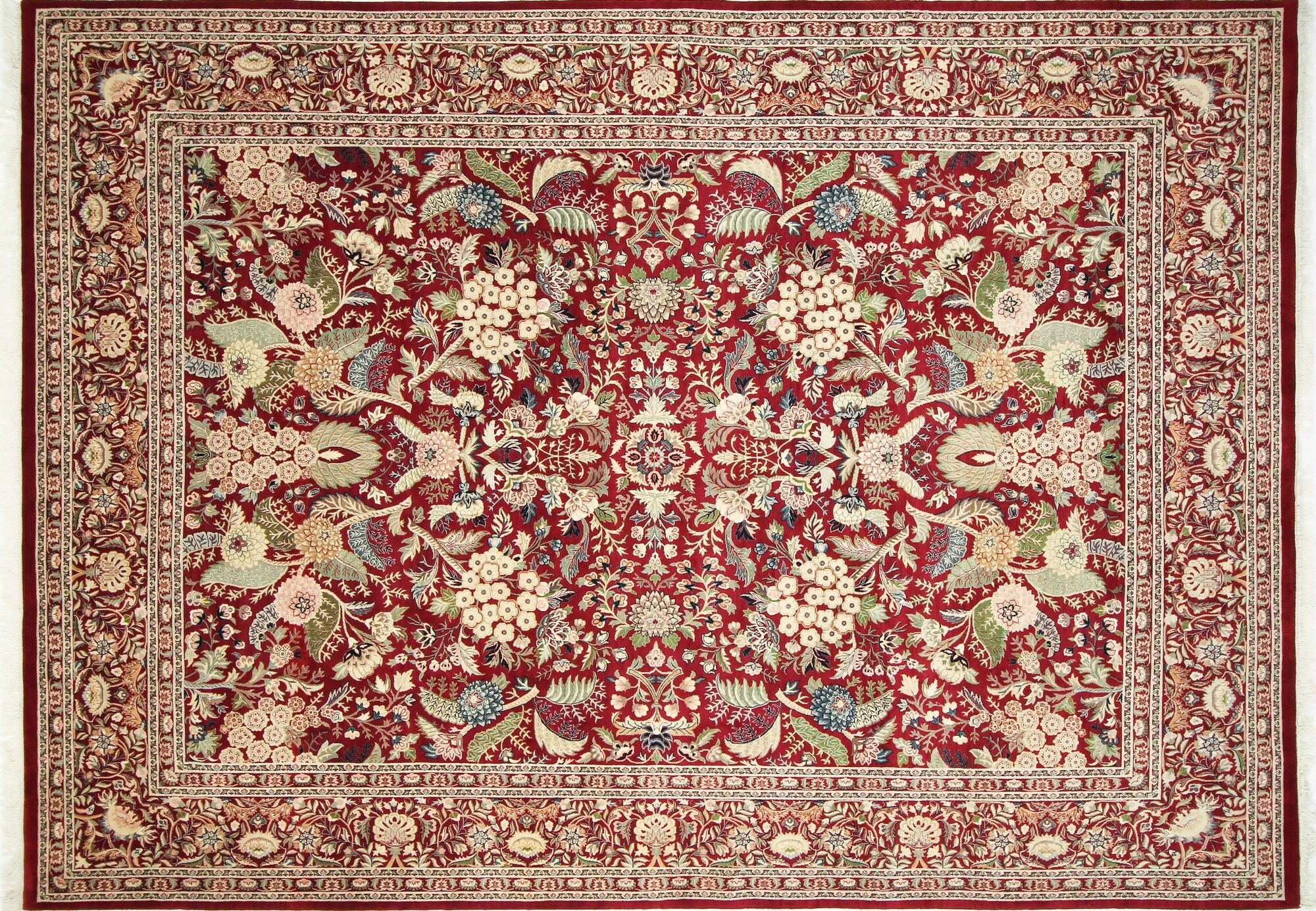 Pak-Persian Rovena Hand Knotted Wool Red Area Rug Rug Size: Rectangle 9' x 12'5
