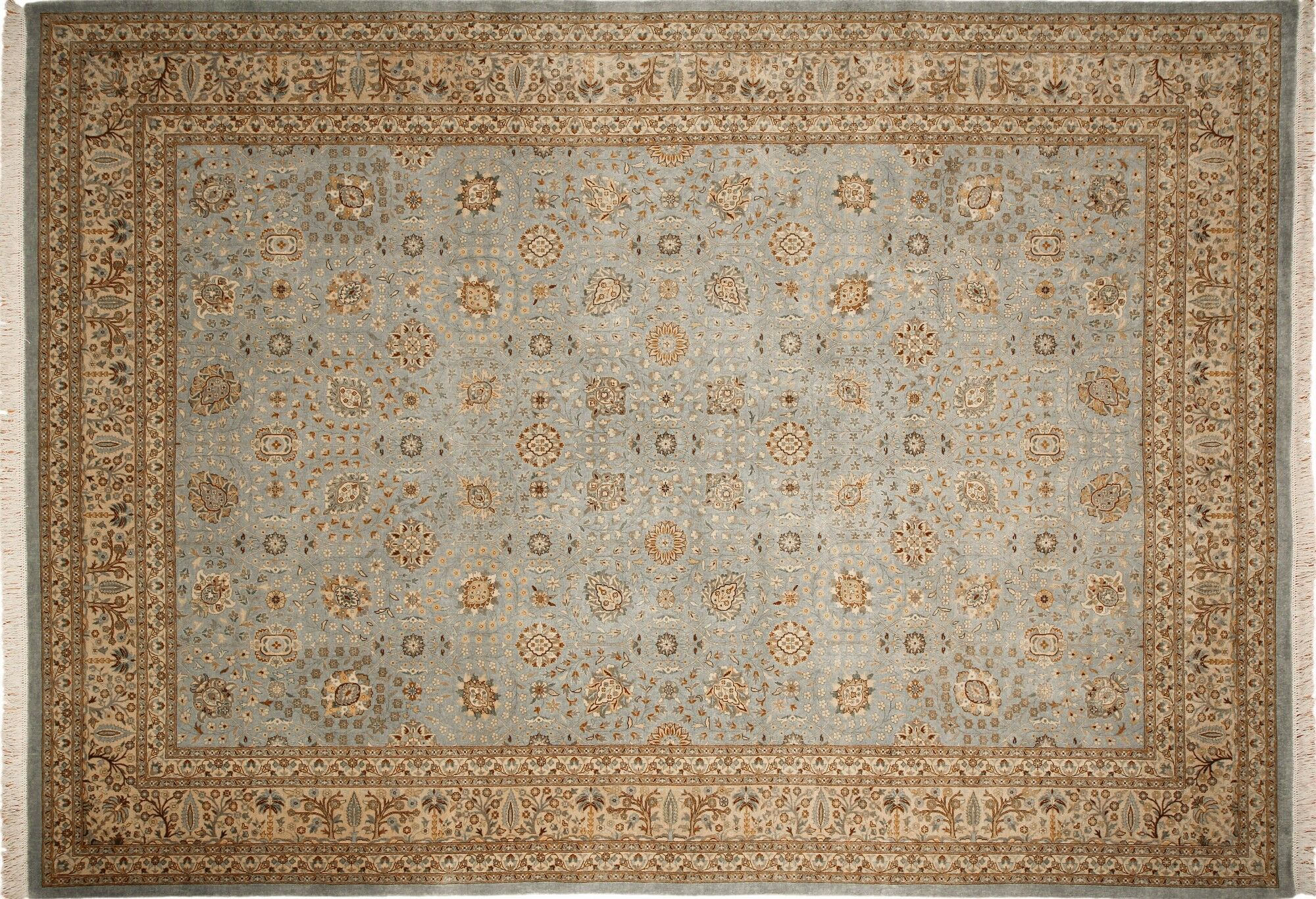 One-of-a-Kind Carlotta Hand-Knotted Light Blue Indoor Area Rug