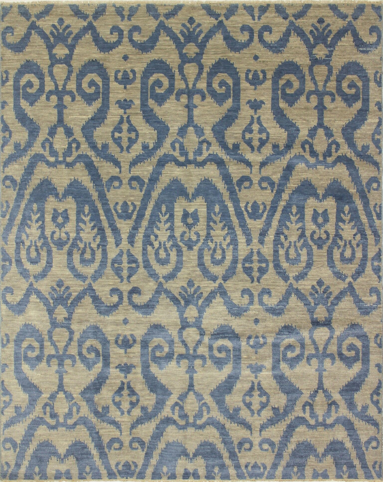 One-of-a-Kind Lona Rectangle Hand-Knotted Gray/Blue Area Rug