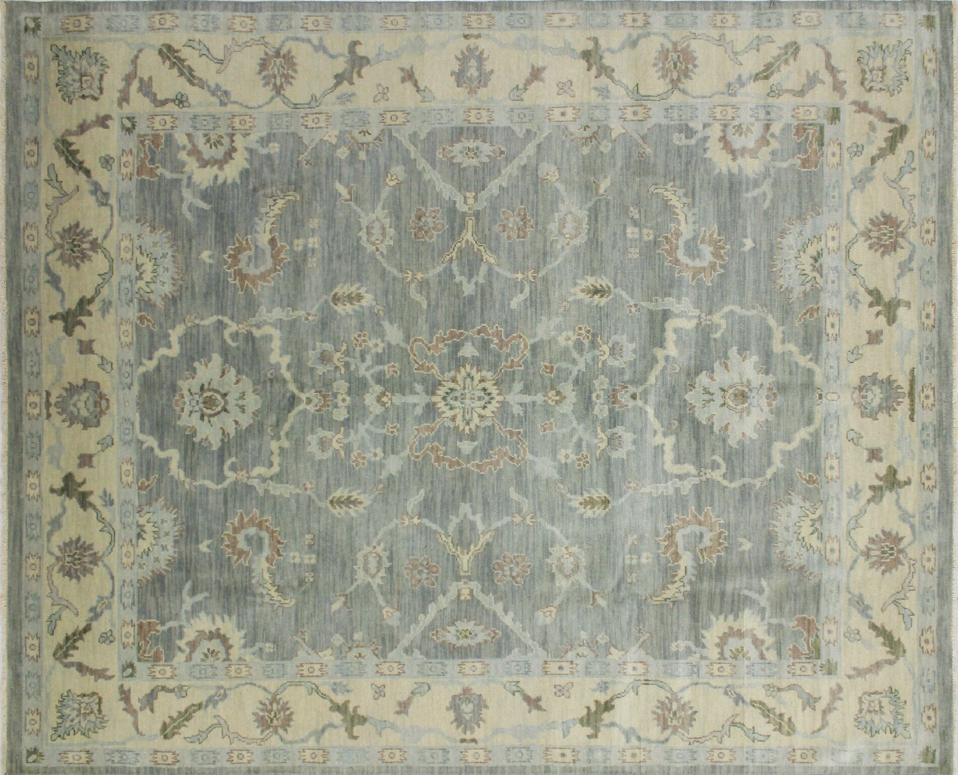 One-of-a-Kind Lona Hand-Knotted Oriental Rectangle Gray Area Rug