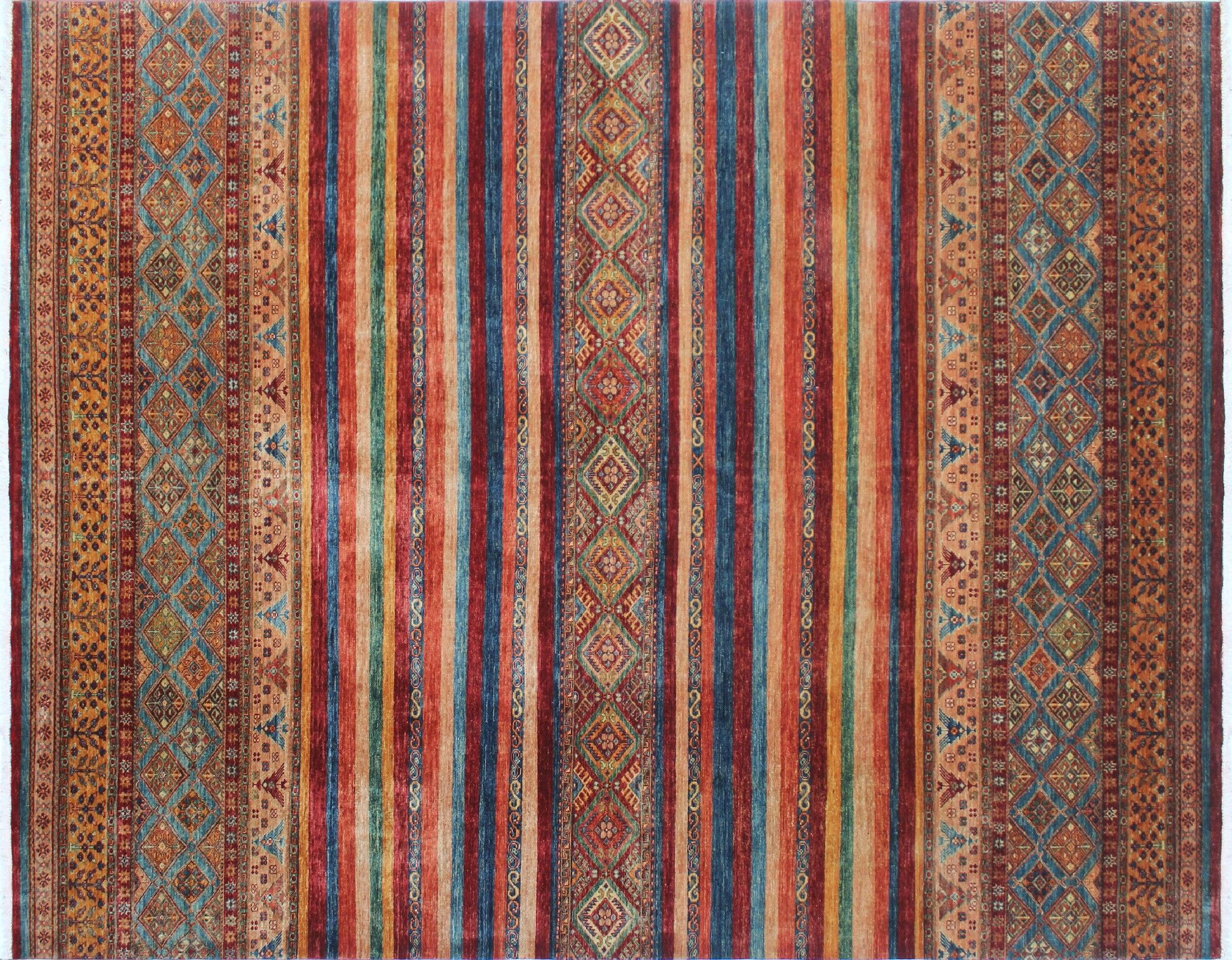 One-of-a-Kind Vernell Hand-Knotted Red Fringe Area Rug