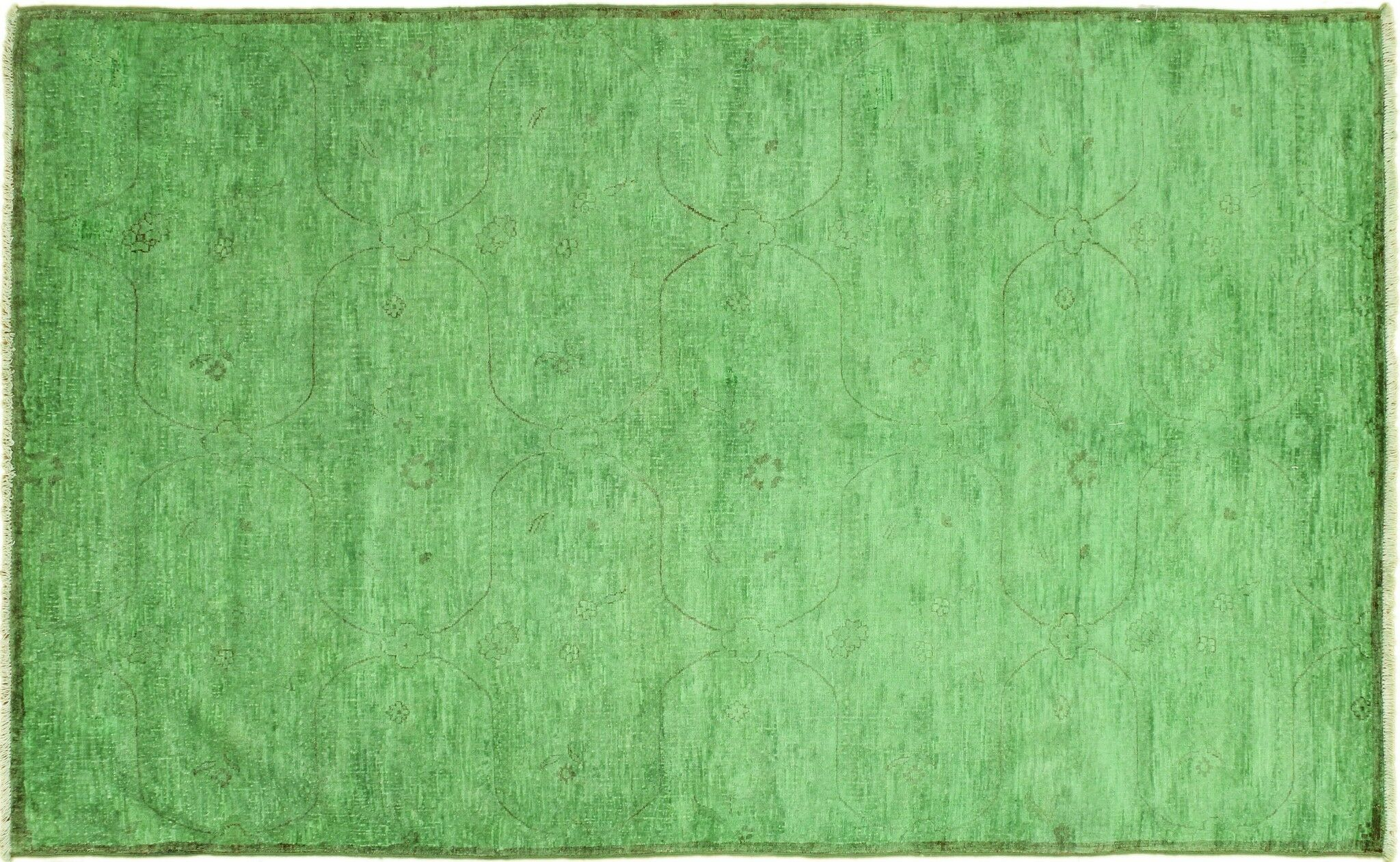 One-of-a-Kind Matlock Hand-Knotted Green Area Rug