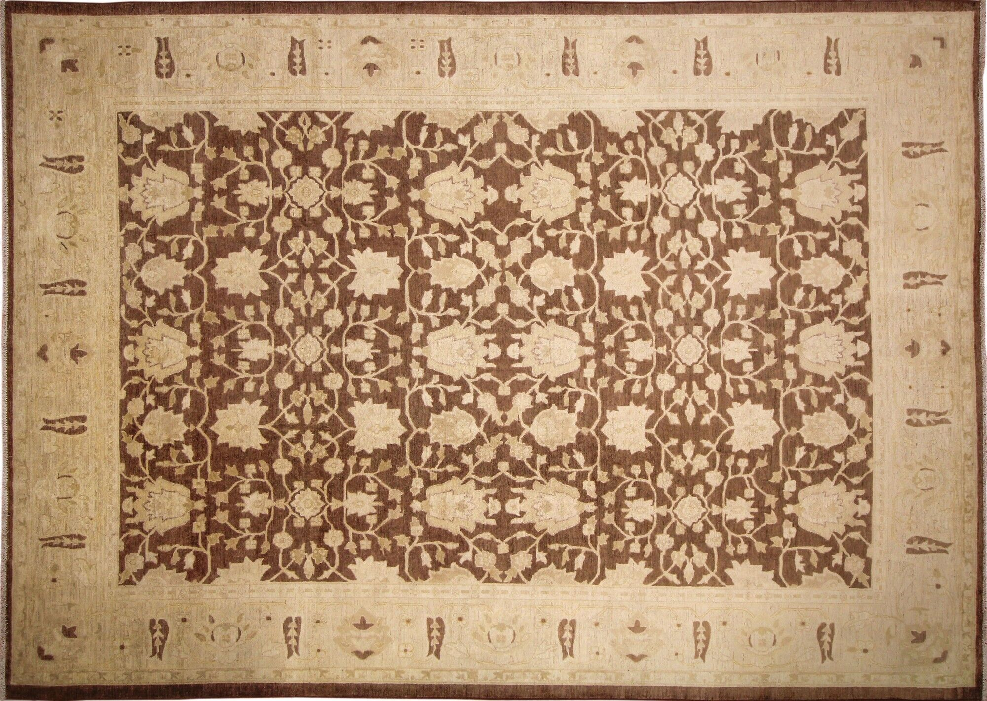 One-of-a-Kind Abston Hand-Knotted Chocolate Area Rug