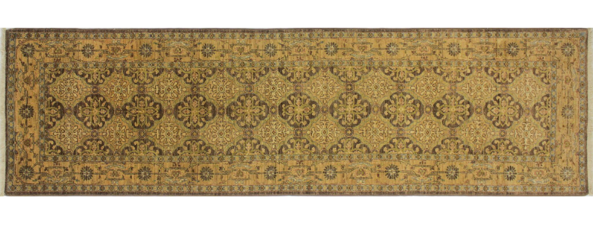 One-of-a-Kind Romona Hand-Knotted Runner Chocolate Wool Area Rug