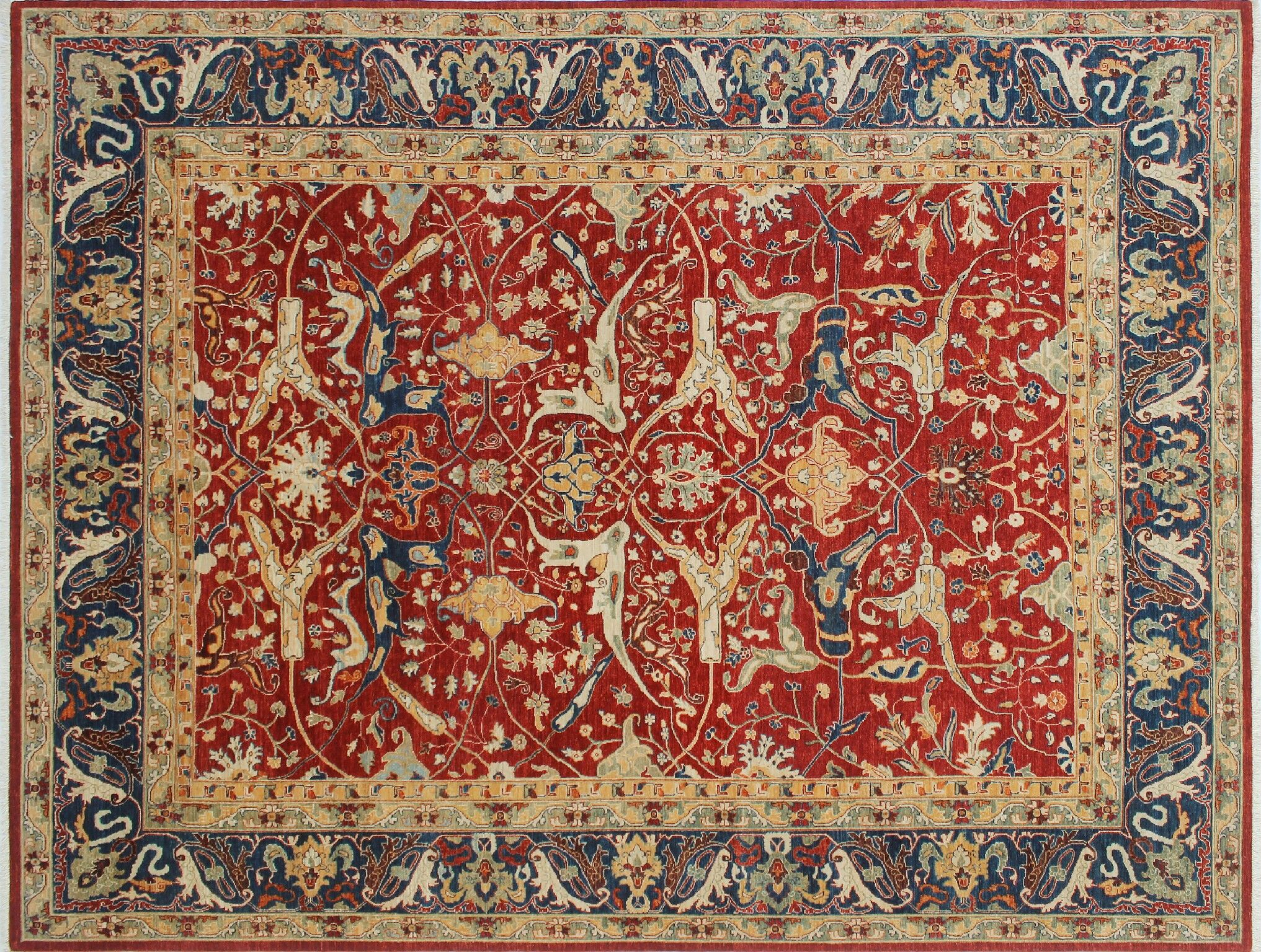 One-of-a-Kind Abrego Hand-Knotted Rust Area Rug