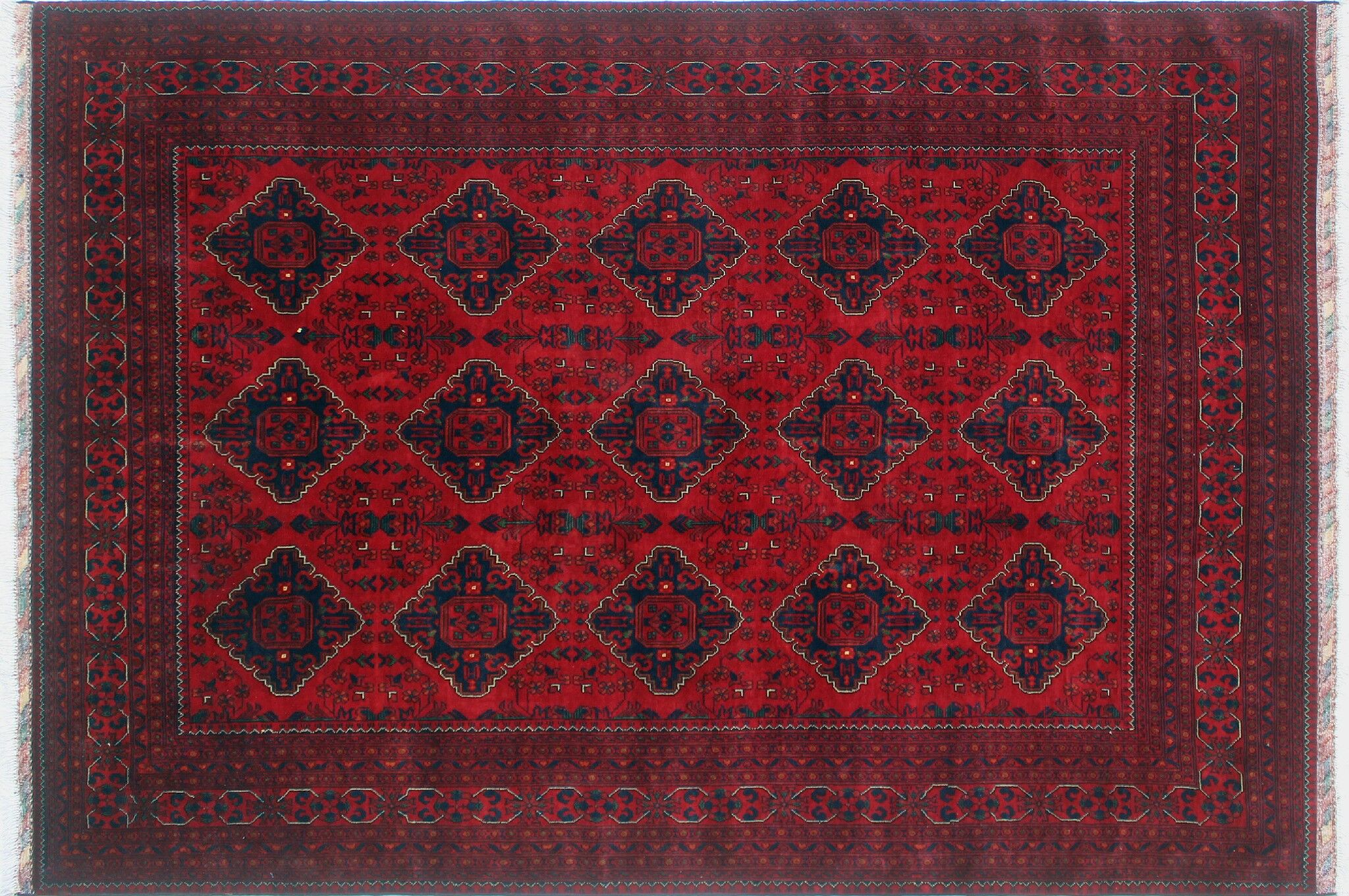 One-of-a-Kind Linda Hand-Knotted Red Area Rug