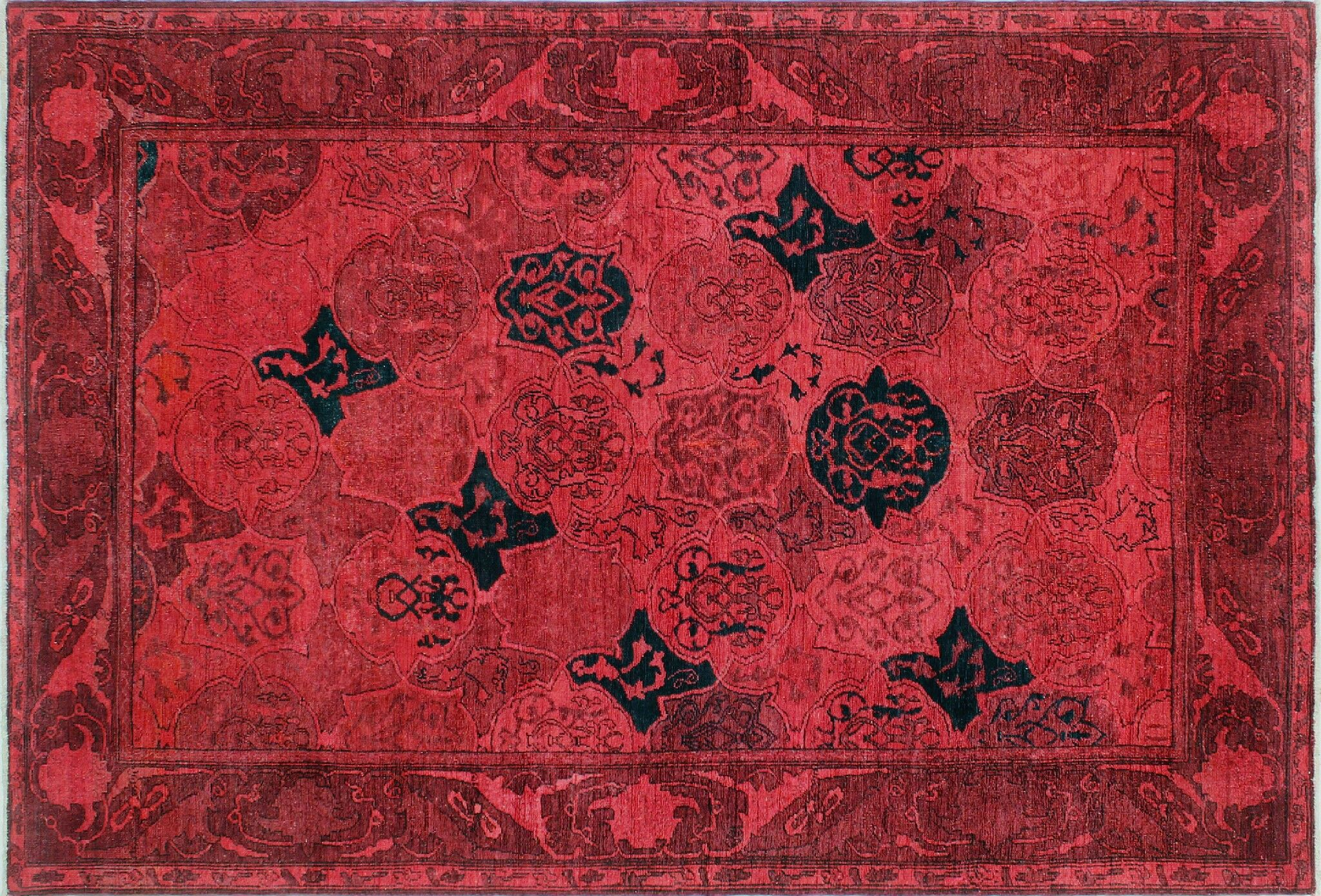 One-of-a-Kind Jillian Hand-Knotted Red Area Rug