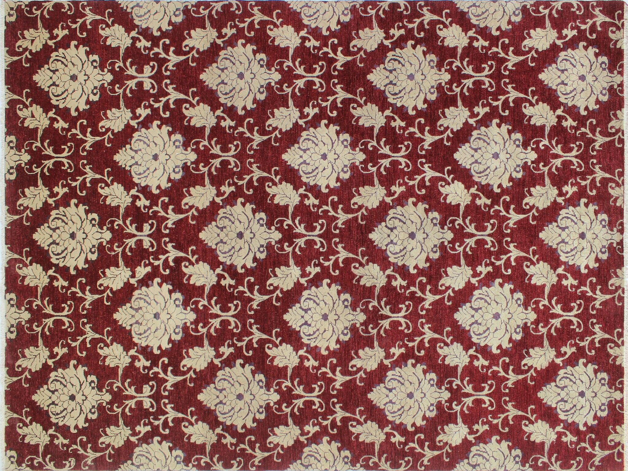 One-of-a-Kind MontagueHand-Knotted Red Area/Beige Rug