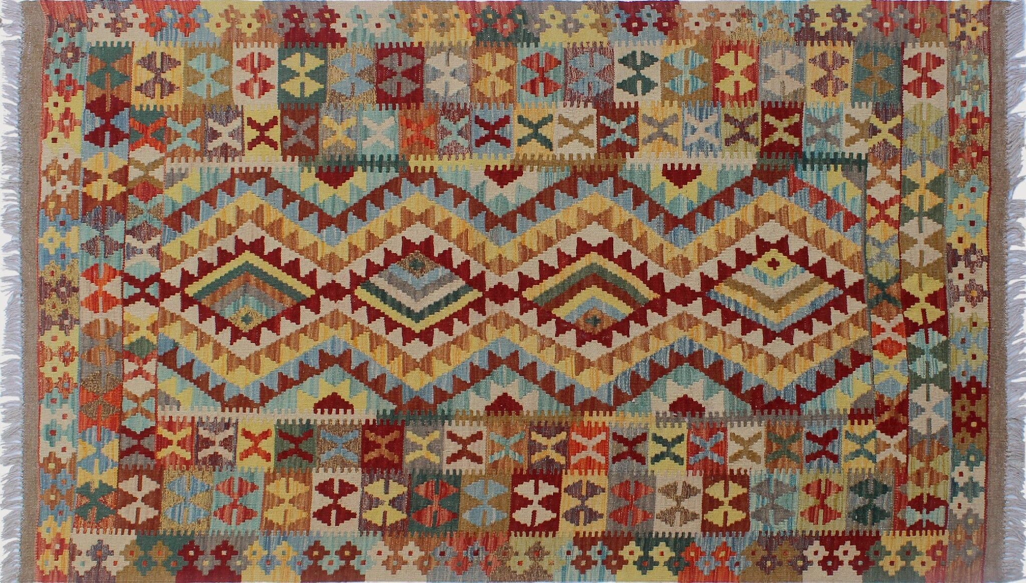One-of-a-Kind Teressa Kilim Hand-Woven Runner Brown Area Rug